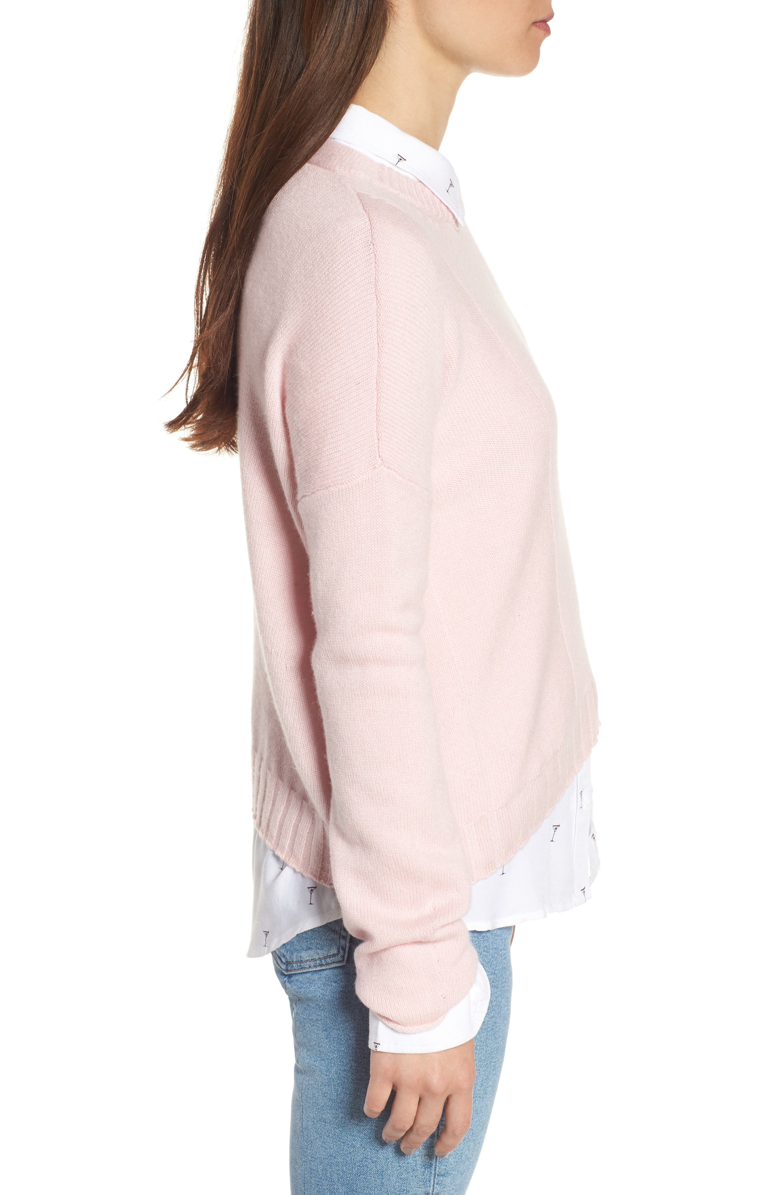 Joanna Wool & Cashmere Sweater,                             Alternate thumbnail 3, color,                             670