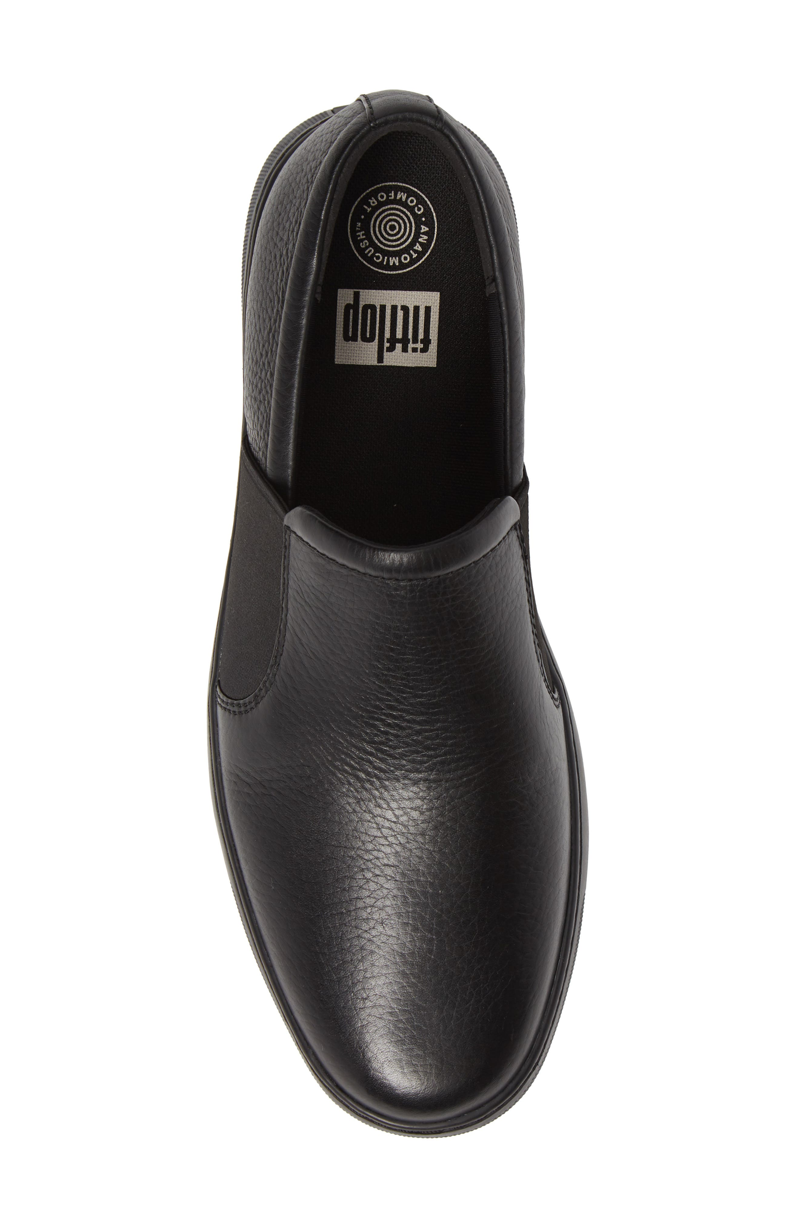 FITFLOP,                             Collins Slip-On Sneaker,                             Alternate thumbnail 5, color,                             BLACK