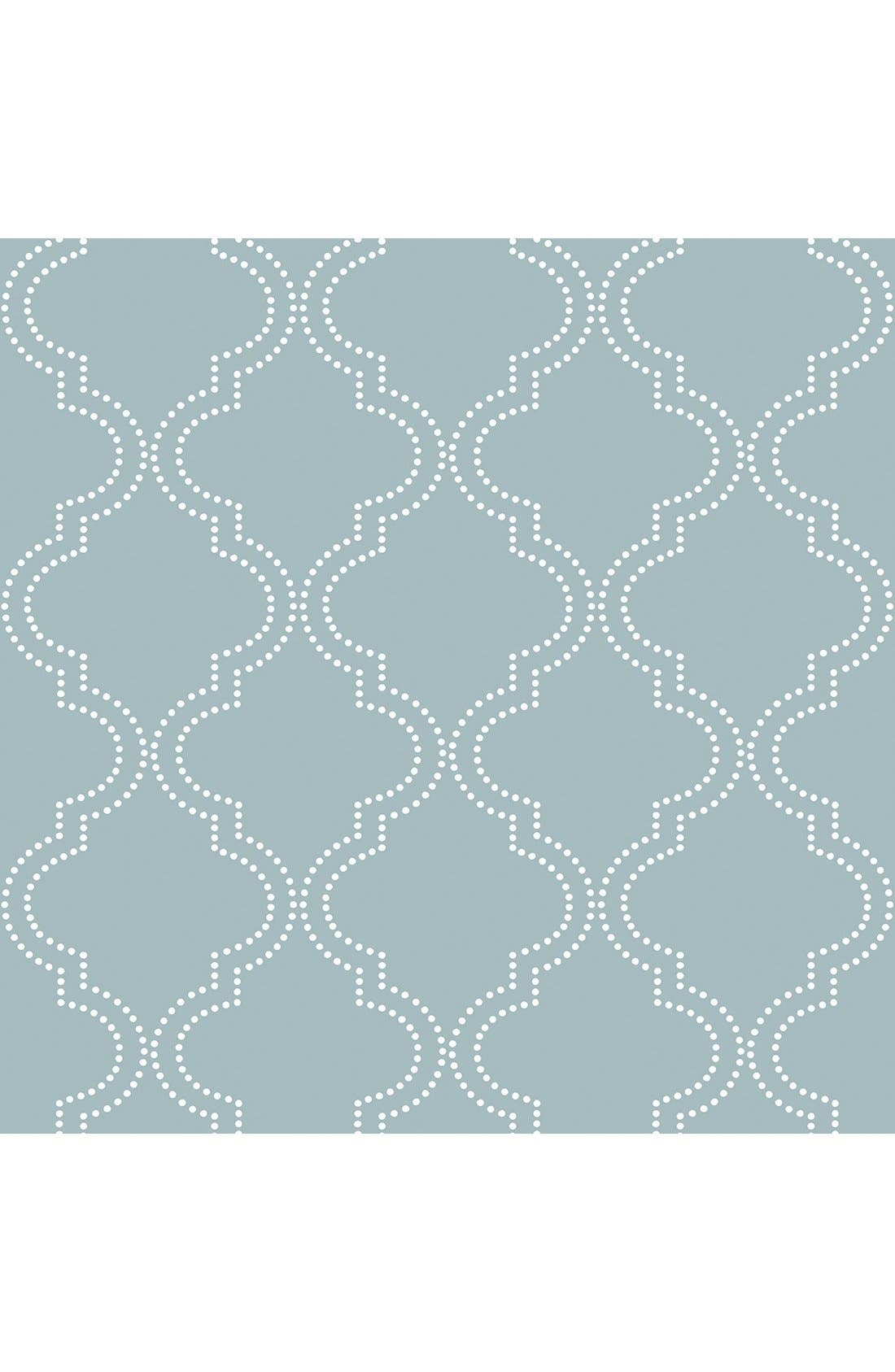 'Quatrefoil'  Peel & Stick Vinyl Wallpaper,                             Main thumbnail 1, color,                             401
