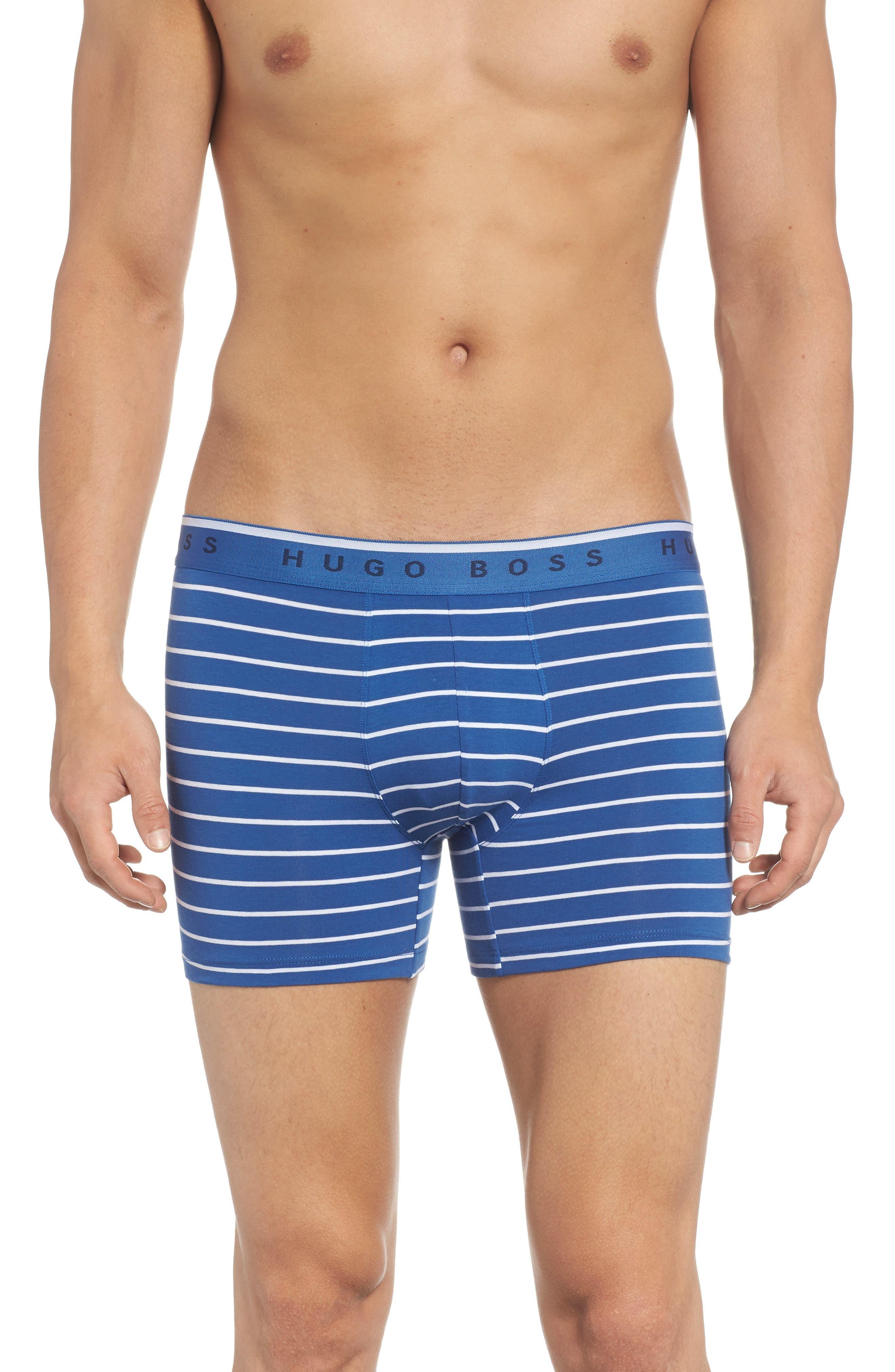 Stripe Boxer Briefs,                             Main thumbnail 1, color,                             BLUE