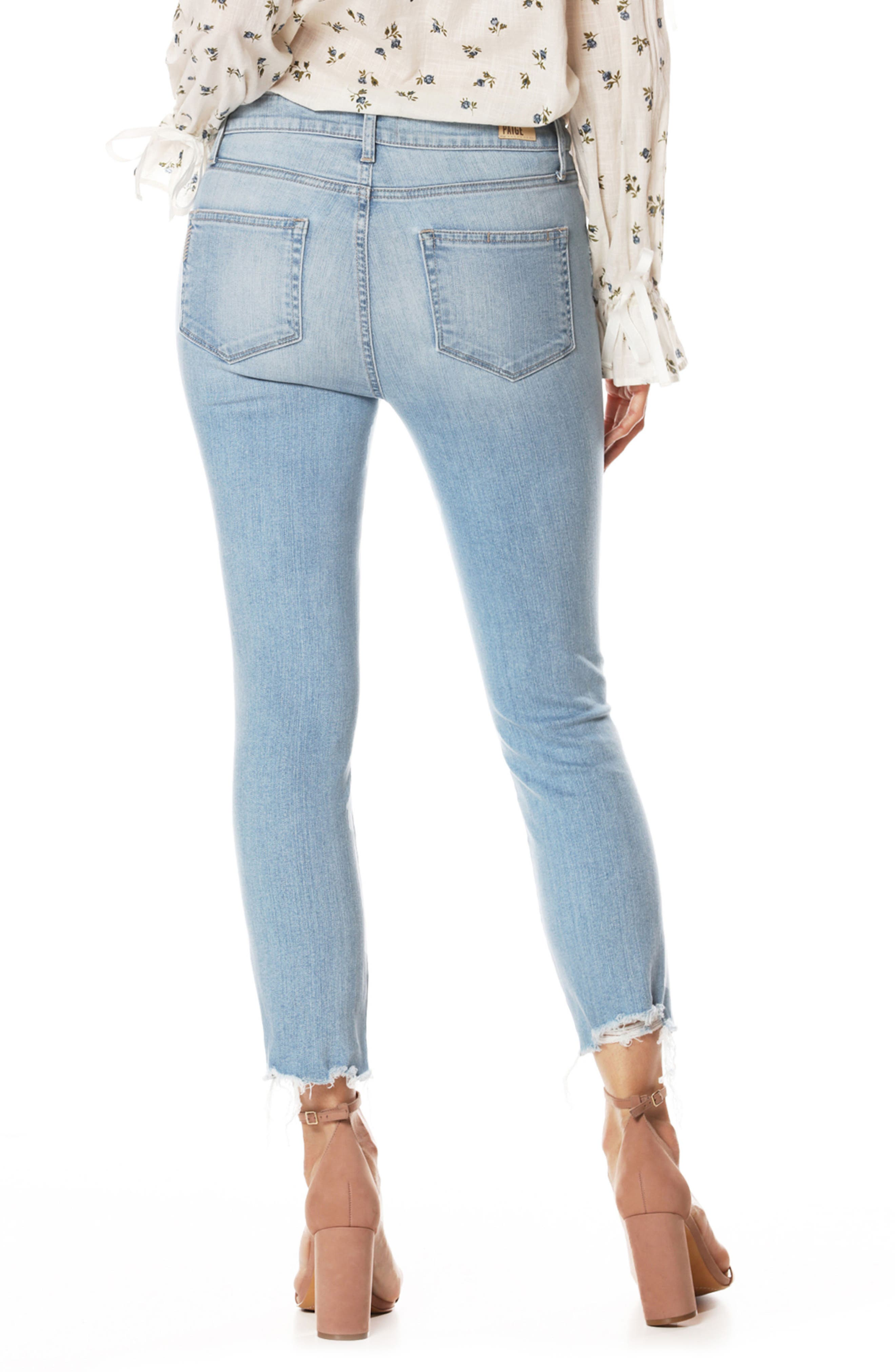 Hoxton High Waist Ankle Straight Leg Jeans,                             Alternate thumbnail 2, color,                             400