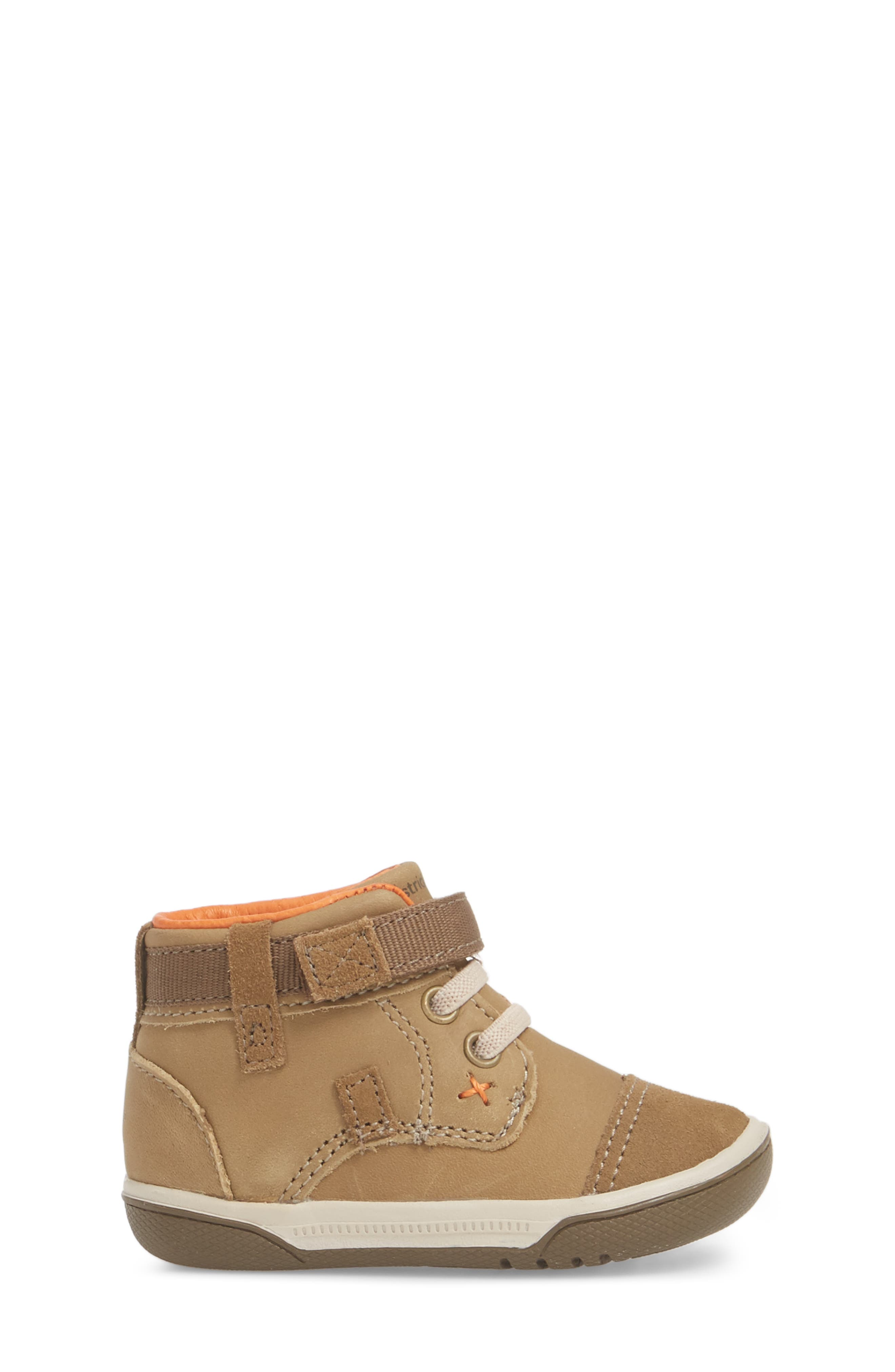 Gus Crib Bootie,                             Alternate thumbnail 3, color,                             BROWN