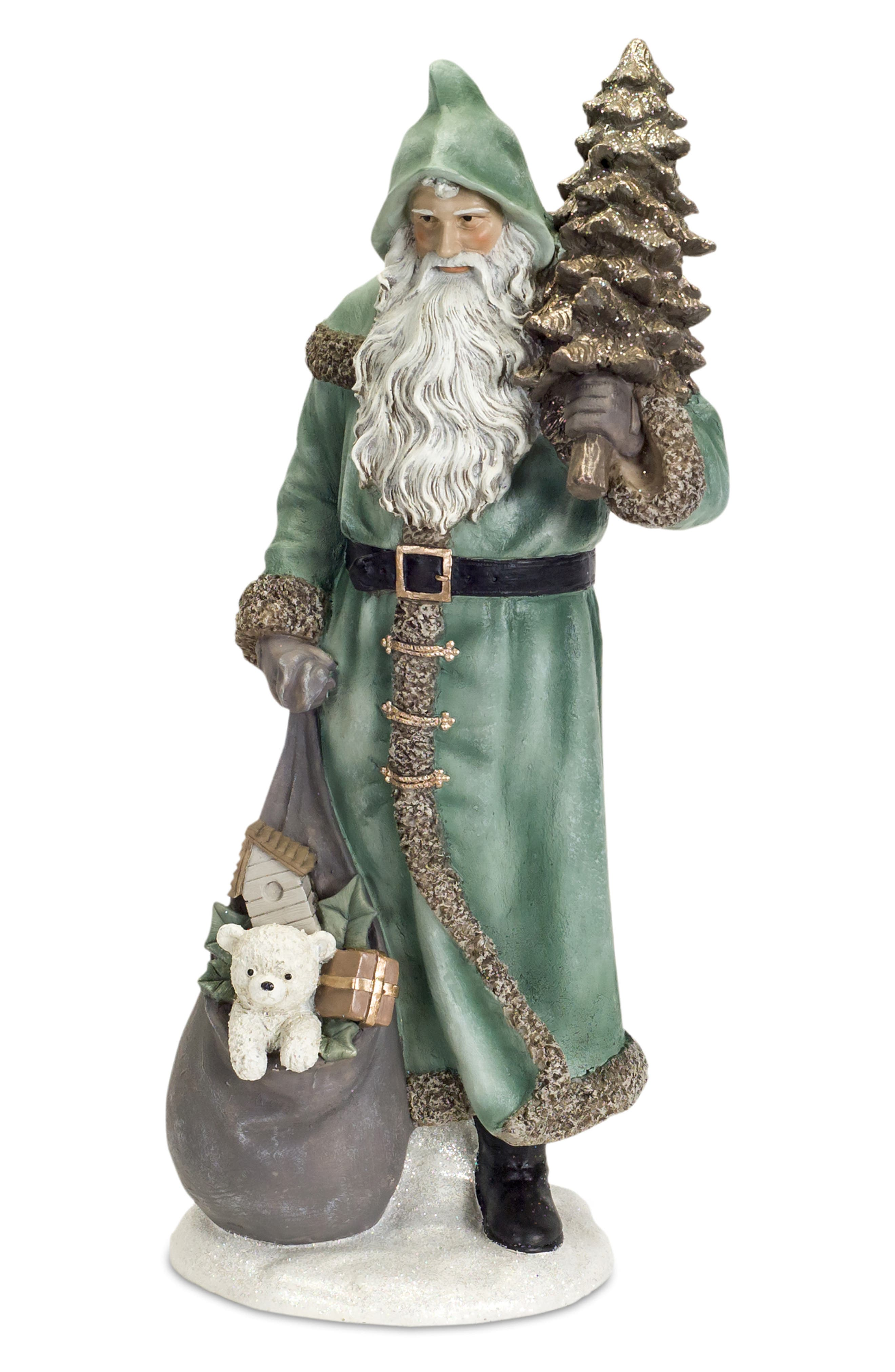 Santa Decoration,                             Main thumbnail 1, color,                             GREEN