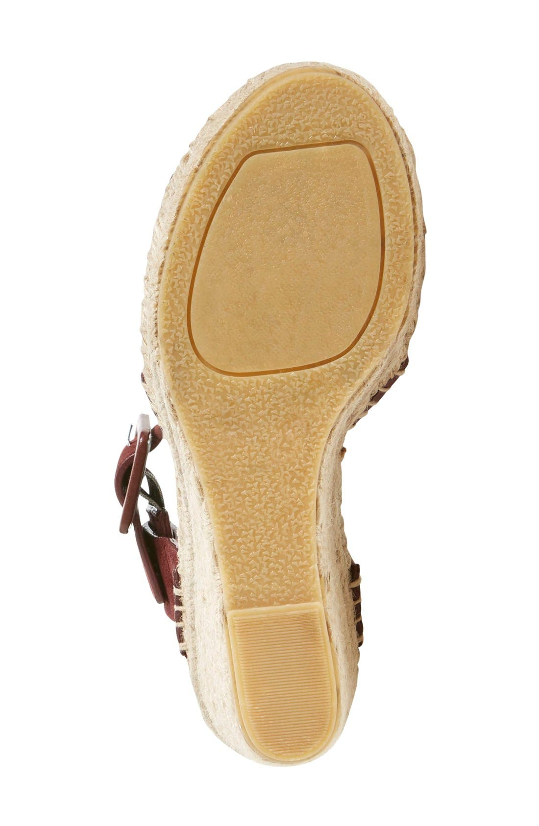 'Stefania' Espadrille Wedge Sandal,                             Alternate thumbnail 4, color,                             200