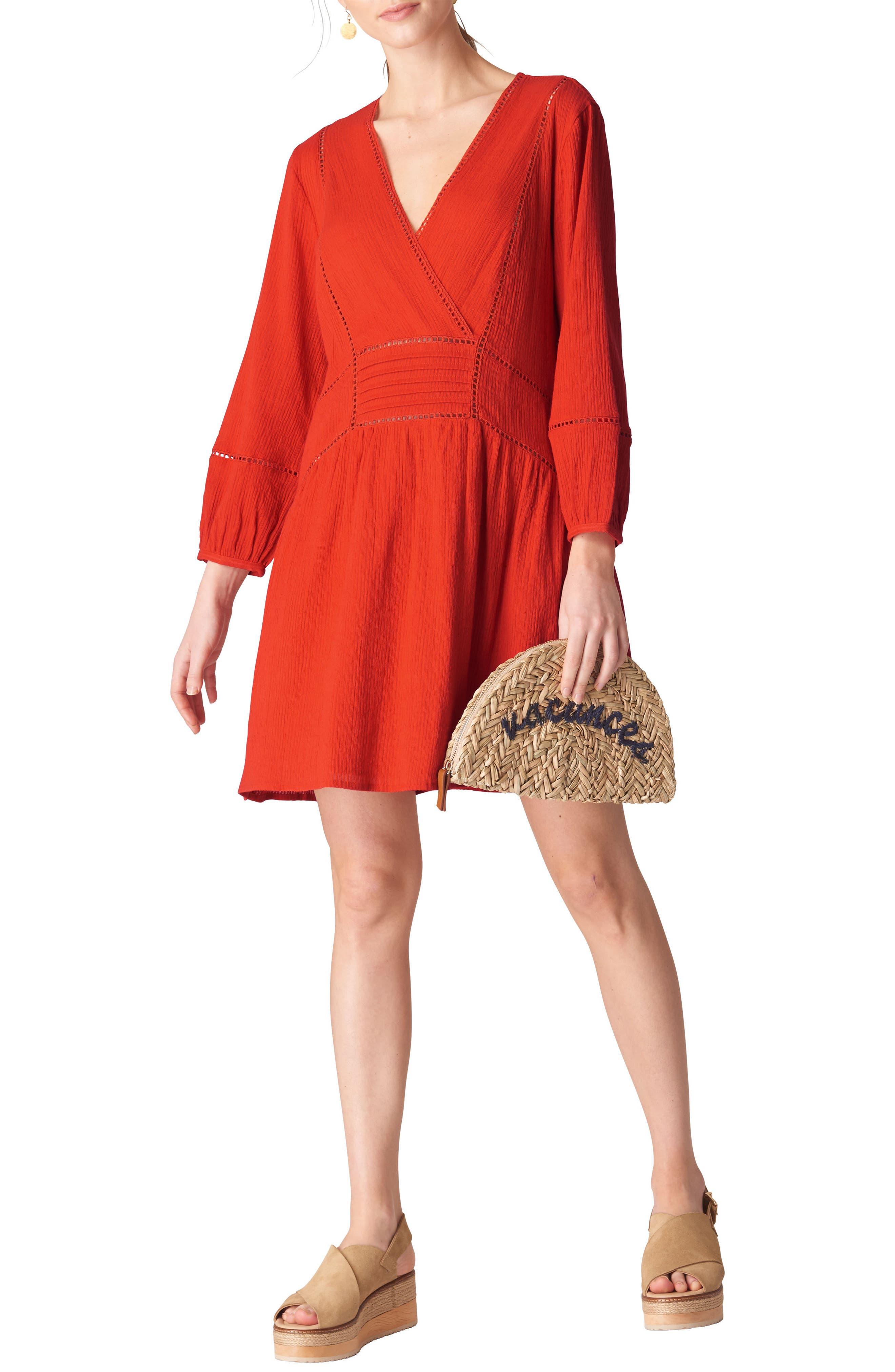 Priya Dress,                         Main,                         color, FLAME