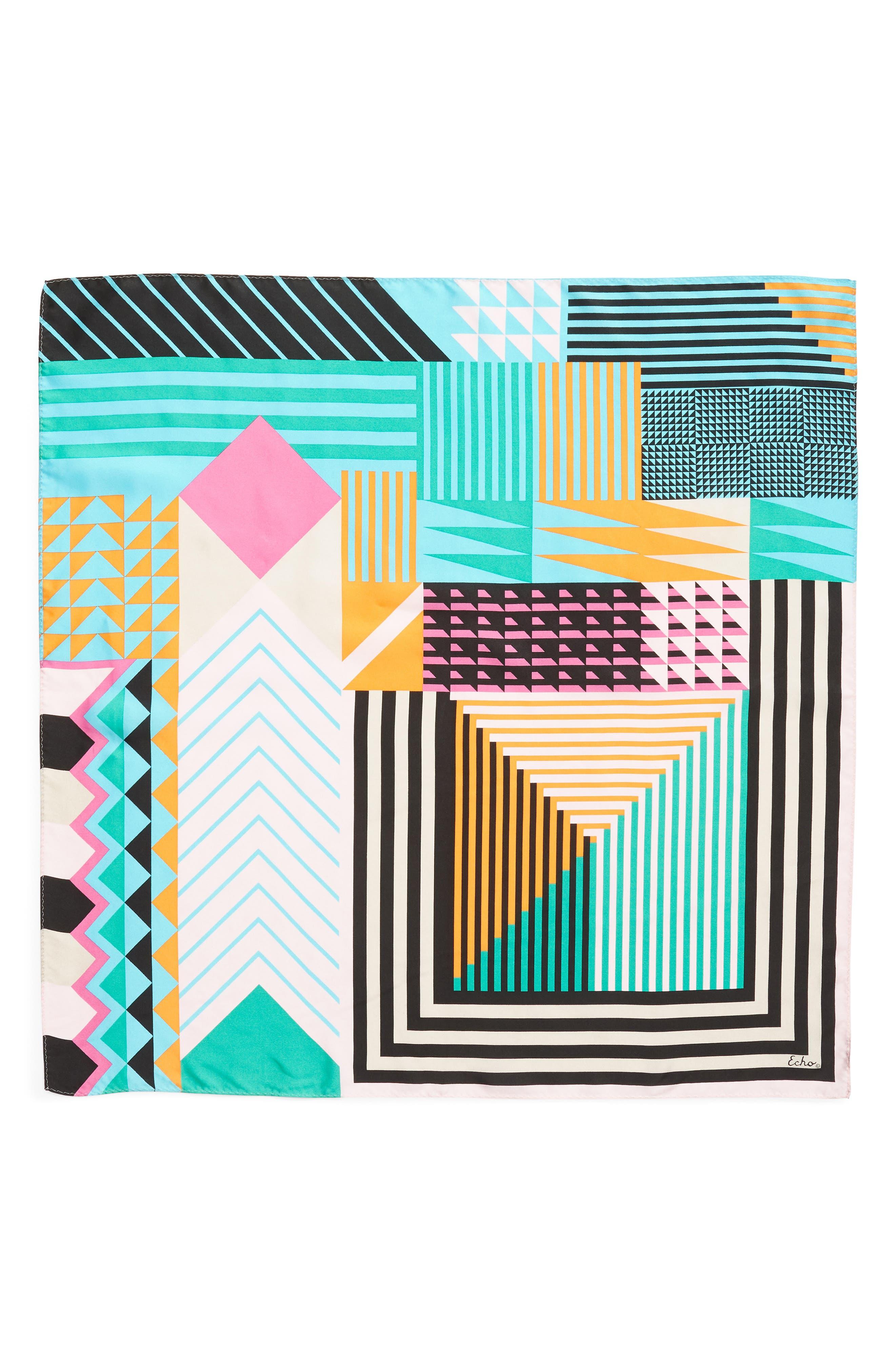 Tassie Square Silk Scarf,                             Alternate thumbnail 6, color,