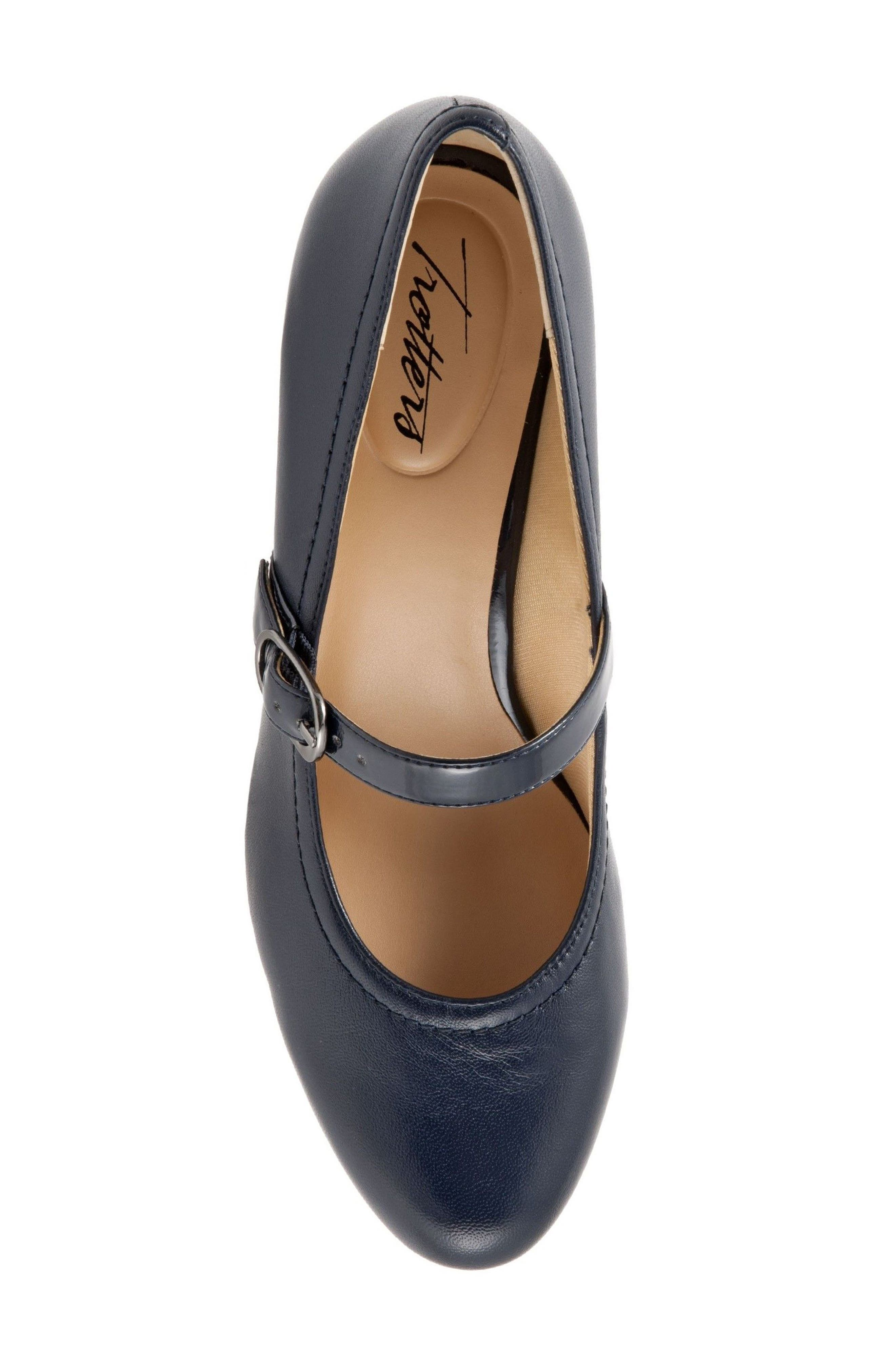 'Candice' Mary Jane Pump,                             Alternate thumbnail 5, color,                             NAVY LEATHER