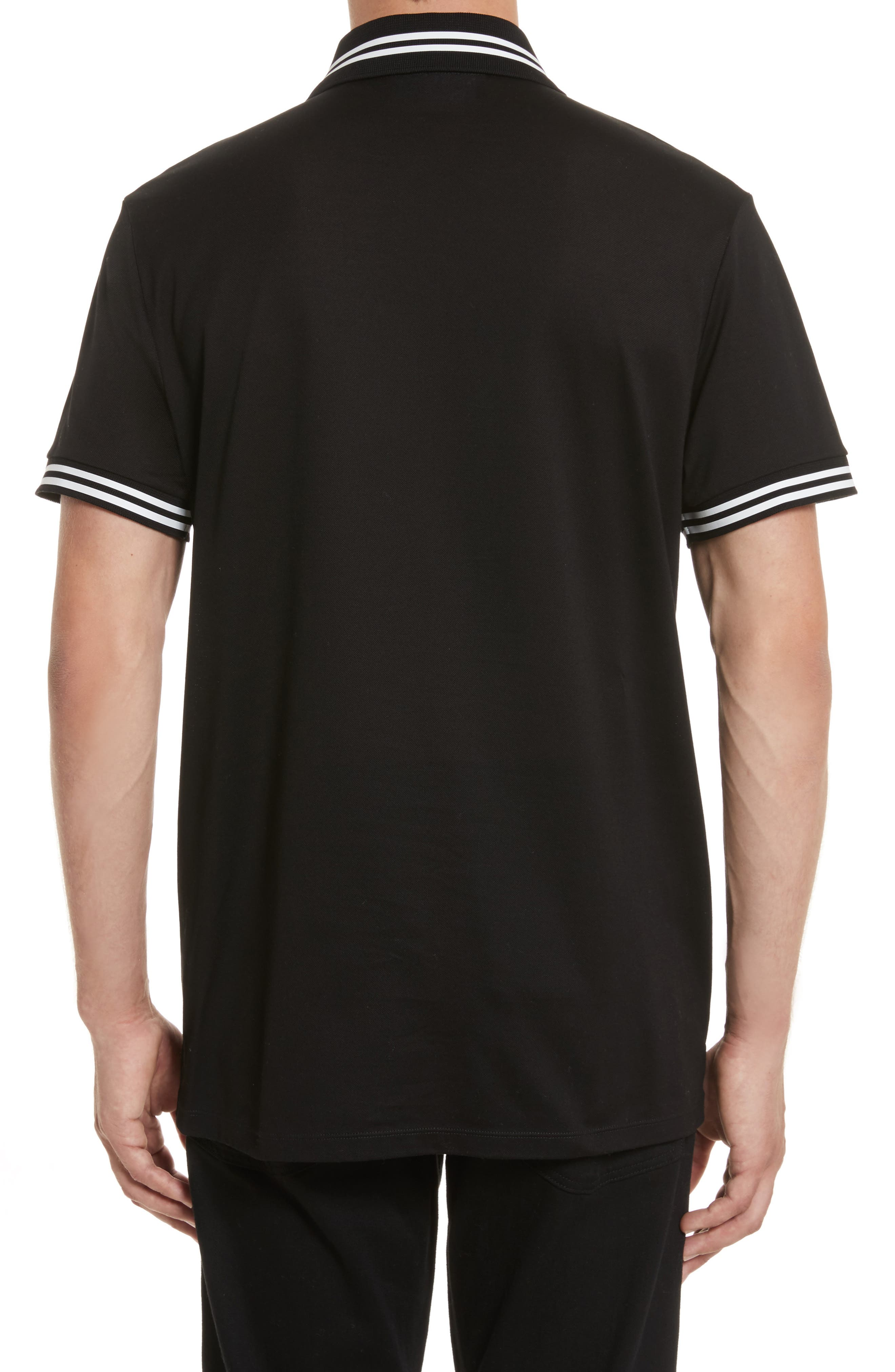 Stripe Tipped Polo,                             Alternate thumbnail 2, color,                             001