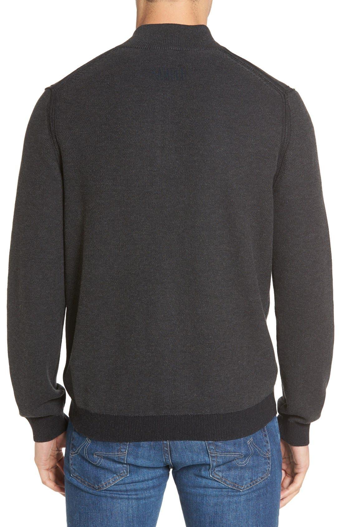 Make Mine a Double Reversible Quarter Zip Sweater,                             Alternate thumbnail 4, color,                             001