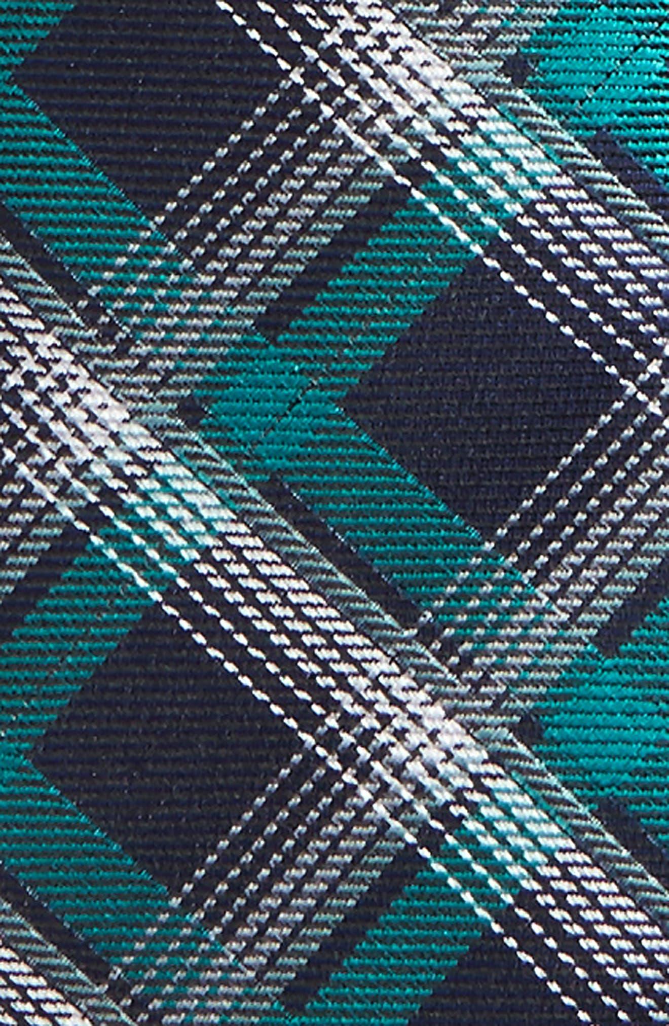 Plaid Silk Zip Tie,                             Alternate thumbnail 10, color,