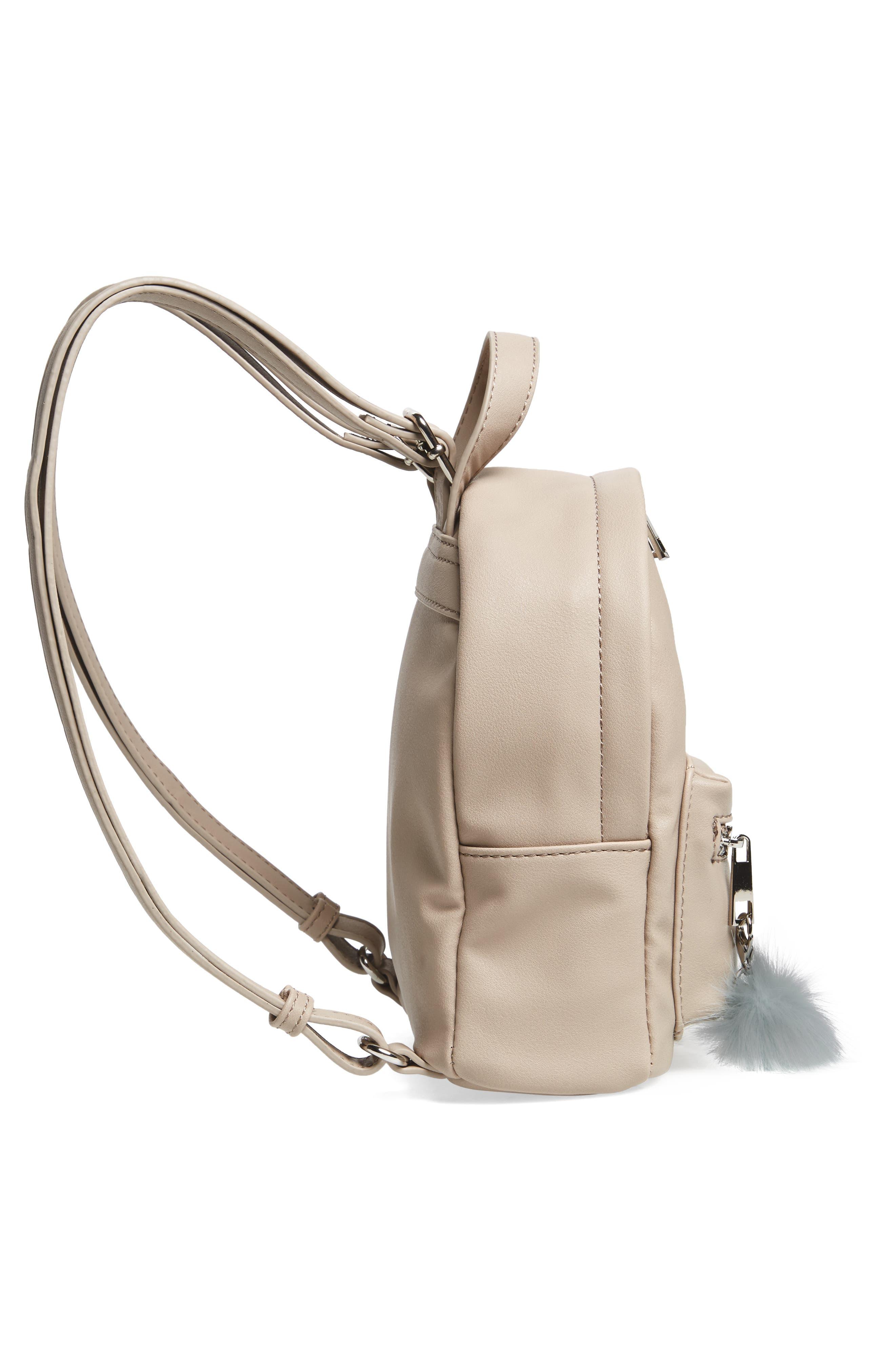 Faux Leather Mini Backpack,                             Alternate thumbnail 39, color,
