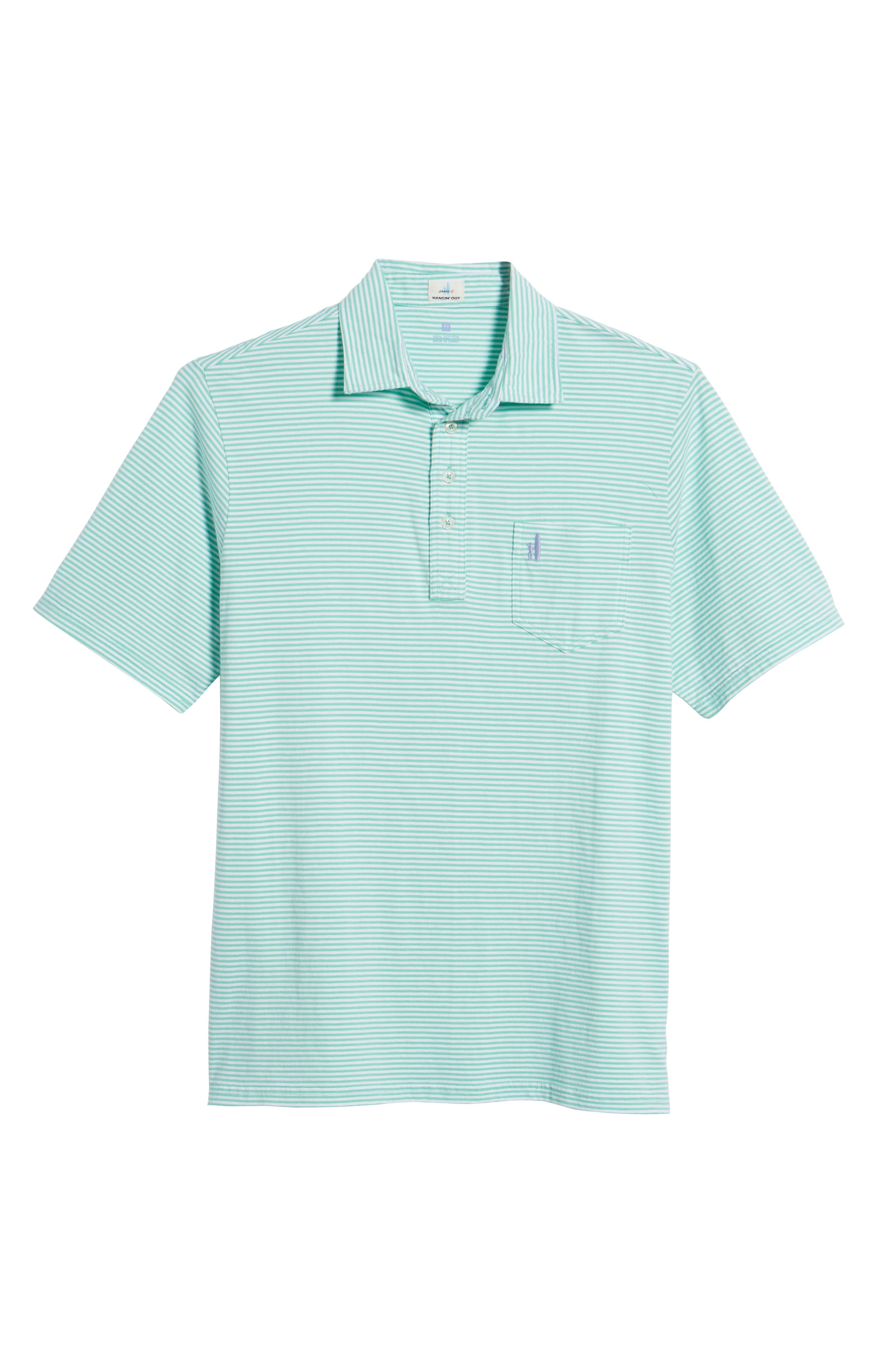 JOHNNIE-O,                             Jack Stripe Jersey Polo,                             Alternate thumbnail 6, color,                             339
