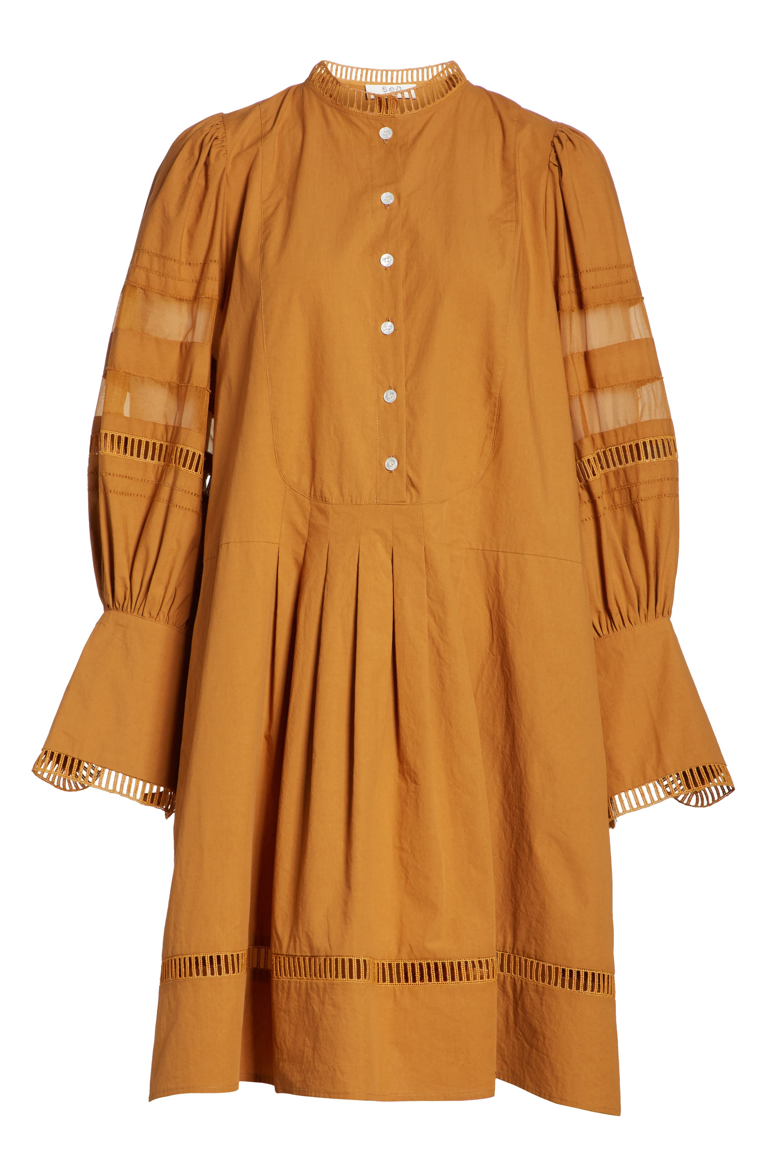 Capri Ladder Stitch Trim Dress,                             Alternate thumbnail 7, color,                             205
