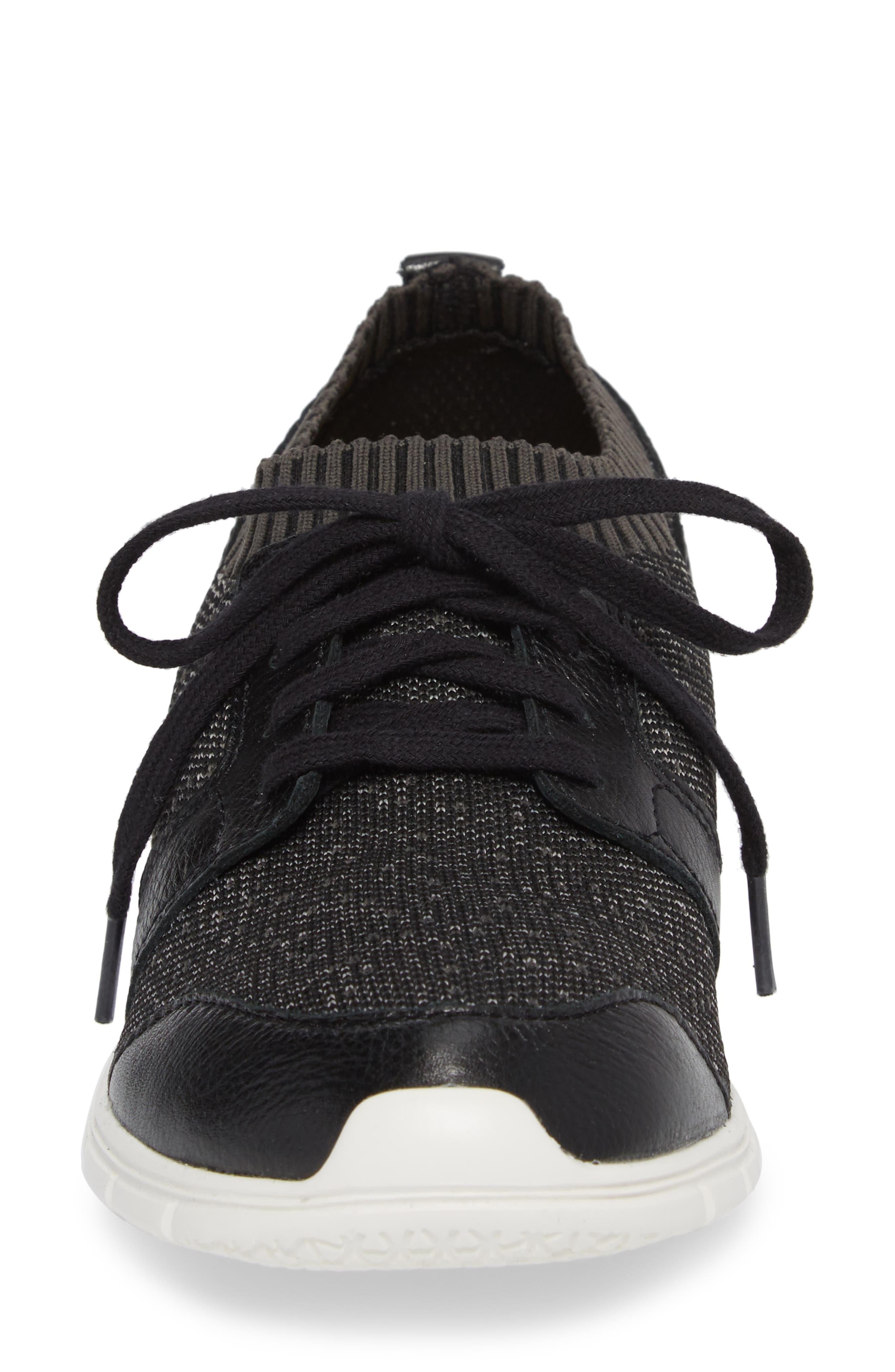 Cypress Knit Sneaker,                             Alternate thumbnail 4, color,                             BLACK FABRIC