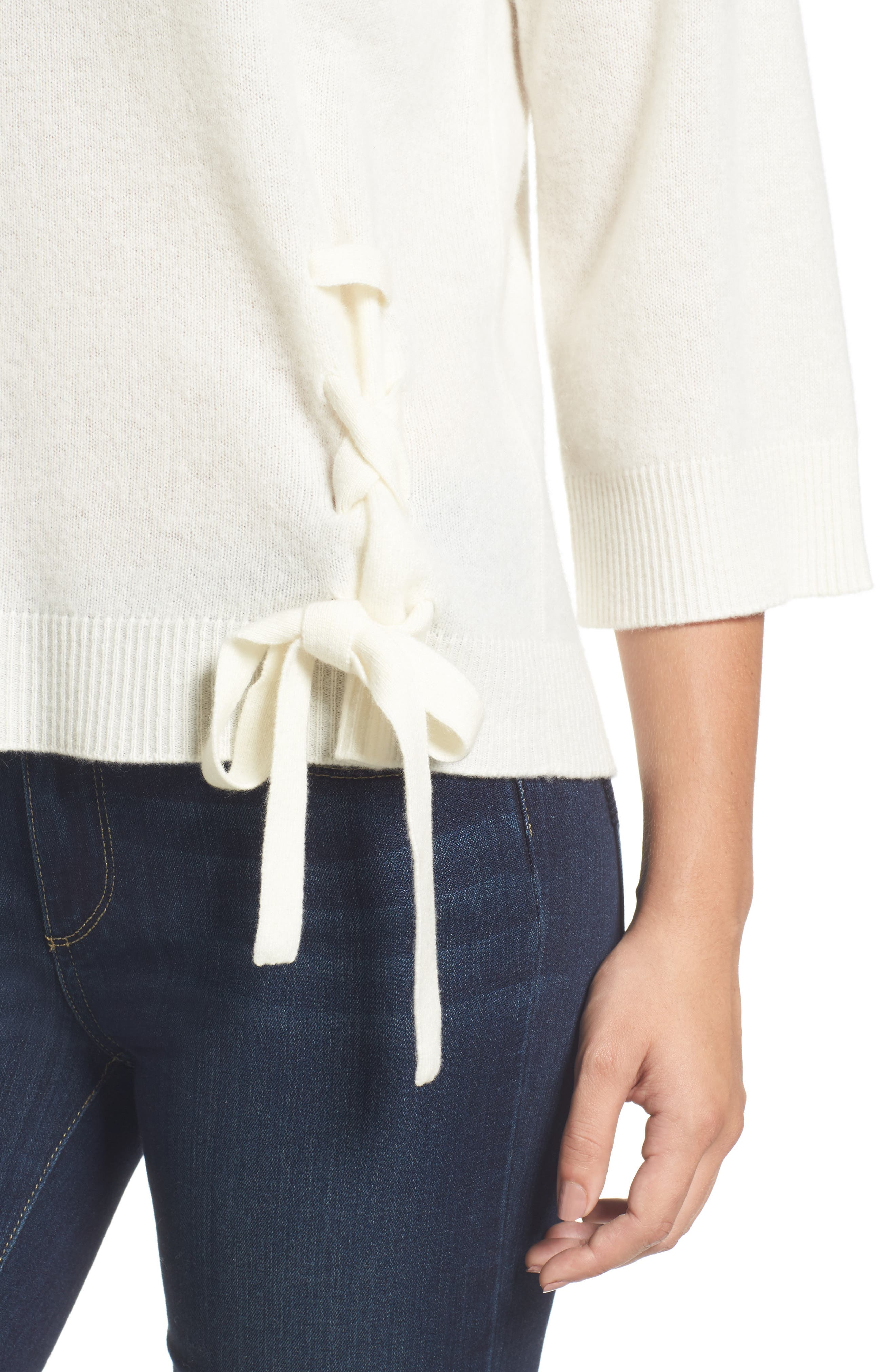 Side Tie Wool and Cashmere Sweater,                             Alternate thumbnail 23, color,