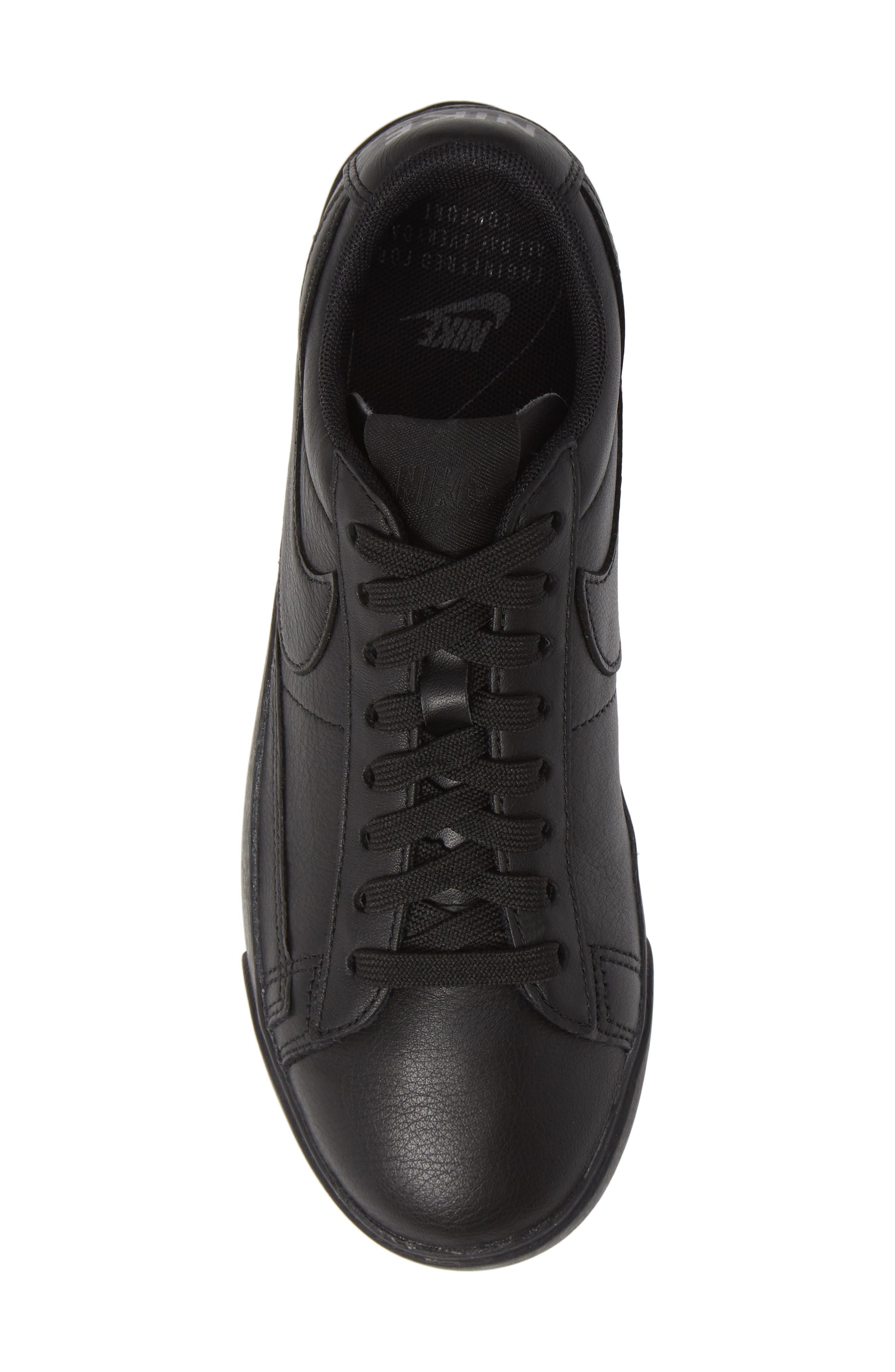 Blazer Low SE Sneaker,                             Alternate thumbnail 5, color,                             BLACK/ BLACK-BLACK