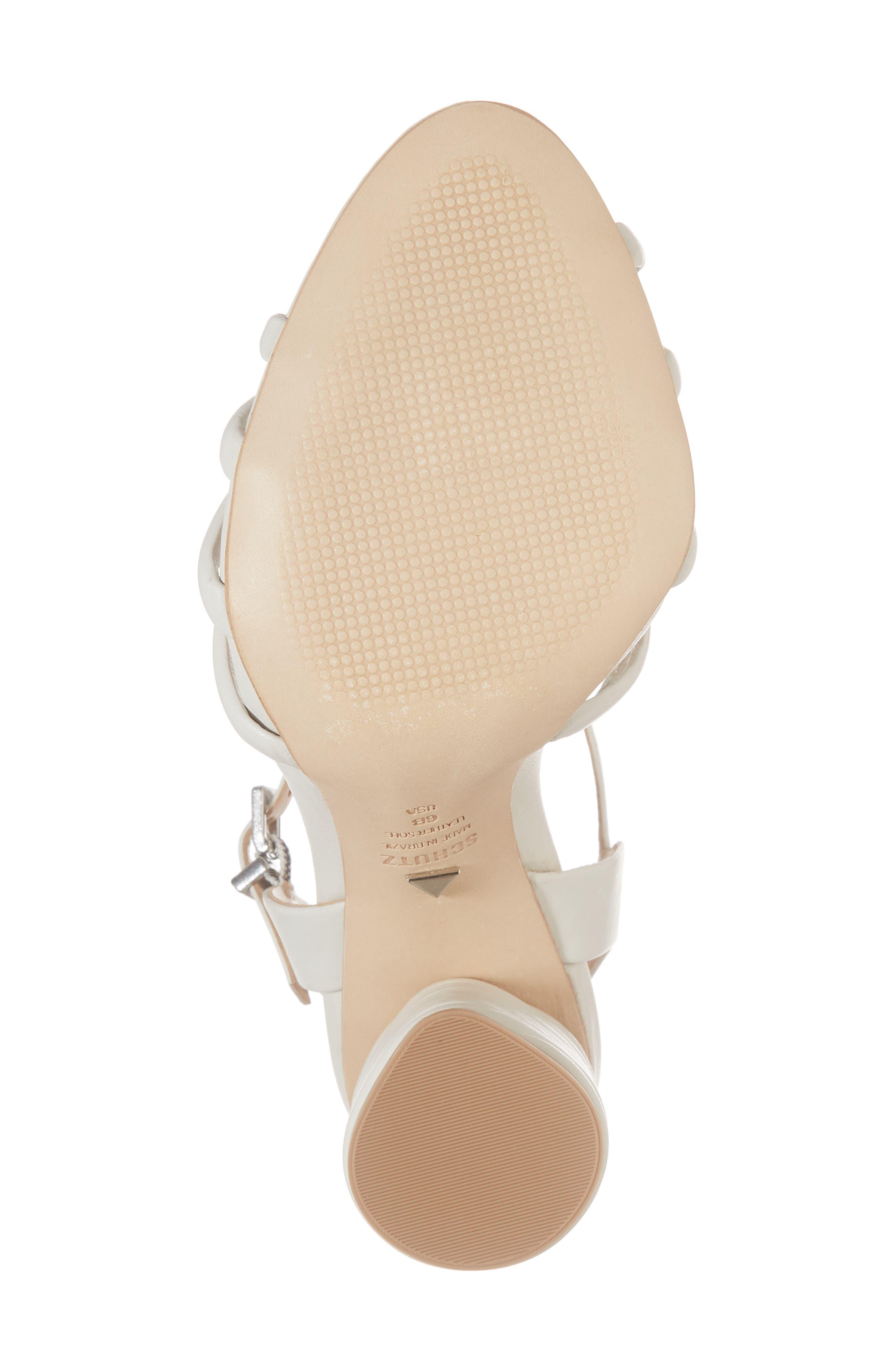 Paolla Column Heel Sandal,                             Alternate thumbnail 6, color,                             100