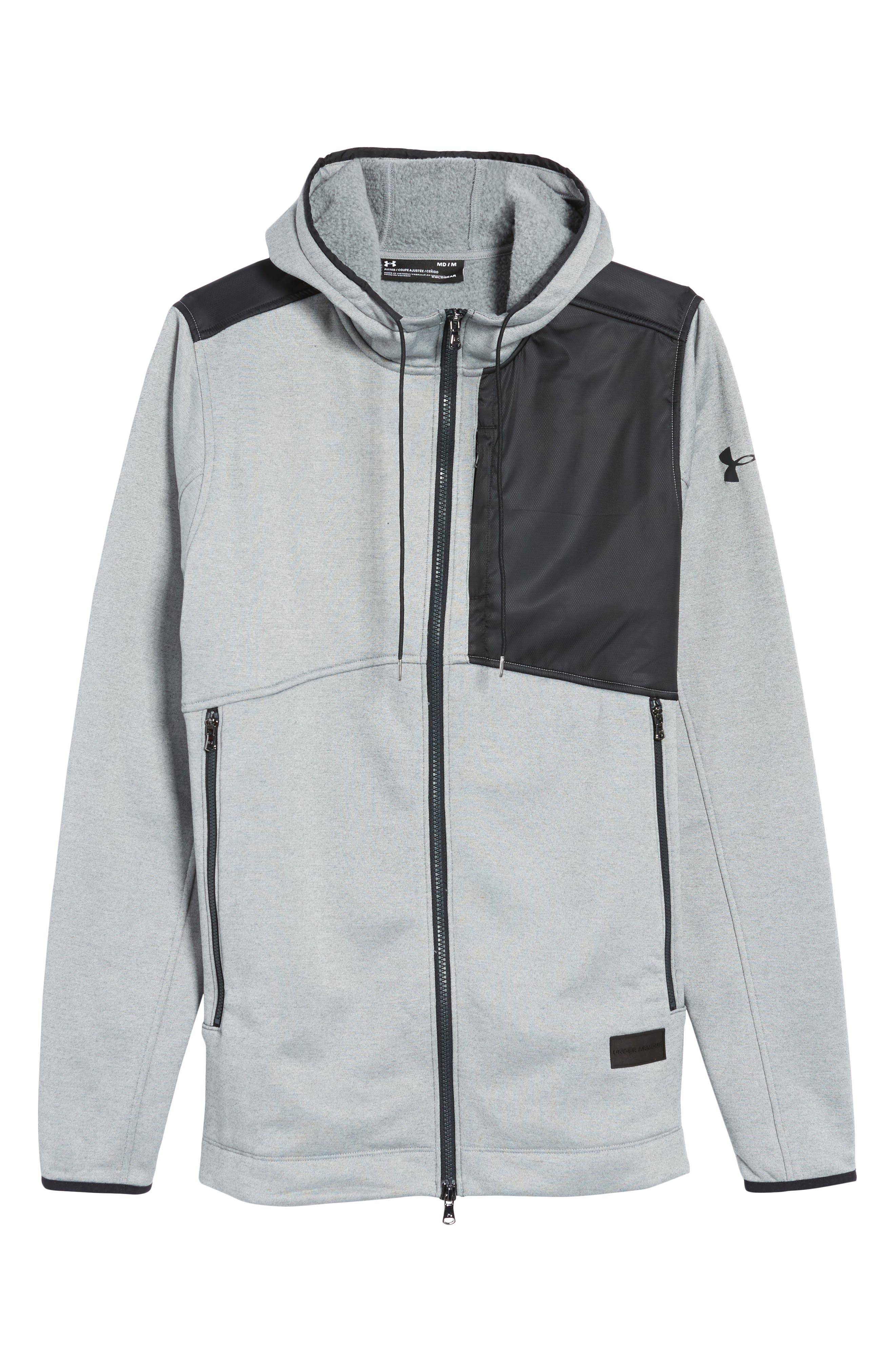 Courtside Stealth Zip Hoodie,                             Alternate thumbnail 22, color,