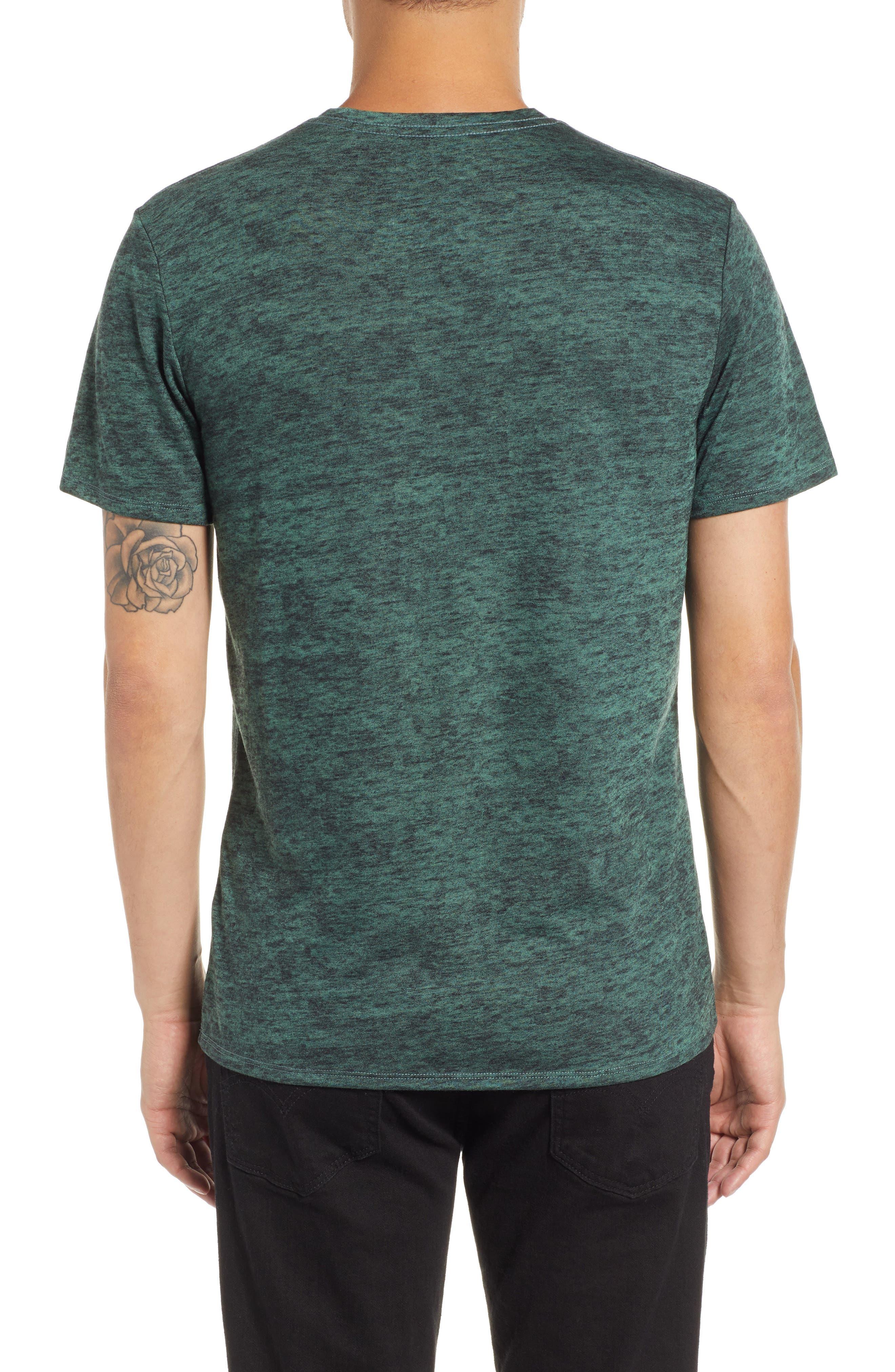 THE RAIL,                             Burnout V-Neck T-Shirt,                             Alternate thumbnail 2, color,                             311