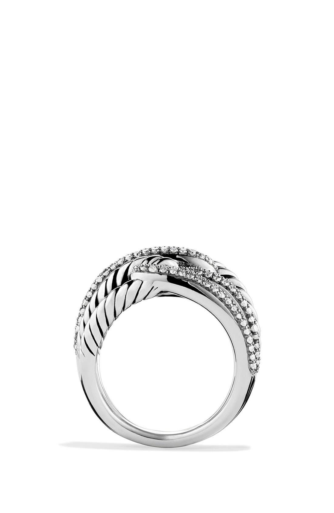 'Labyrinth' Triple-Loop Ring with Diamonds,                             Alternate thumbnail 5, color,                             DIAMOND