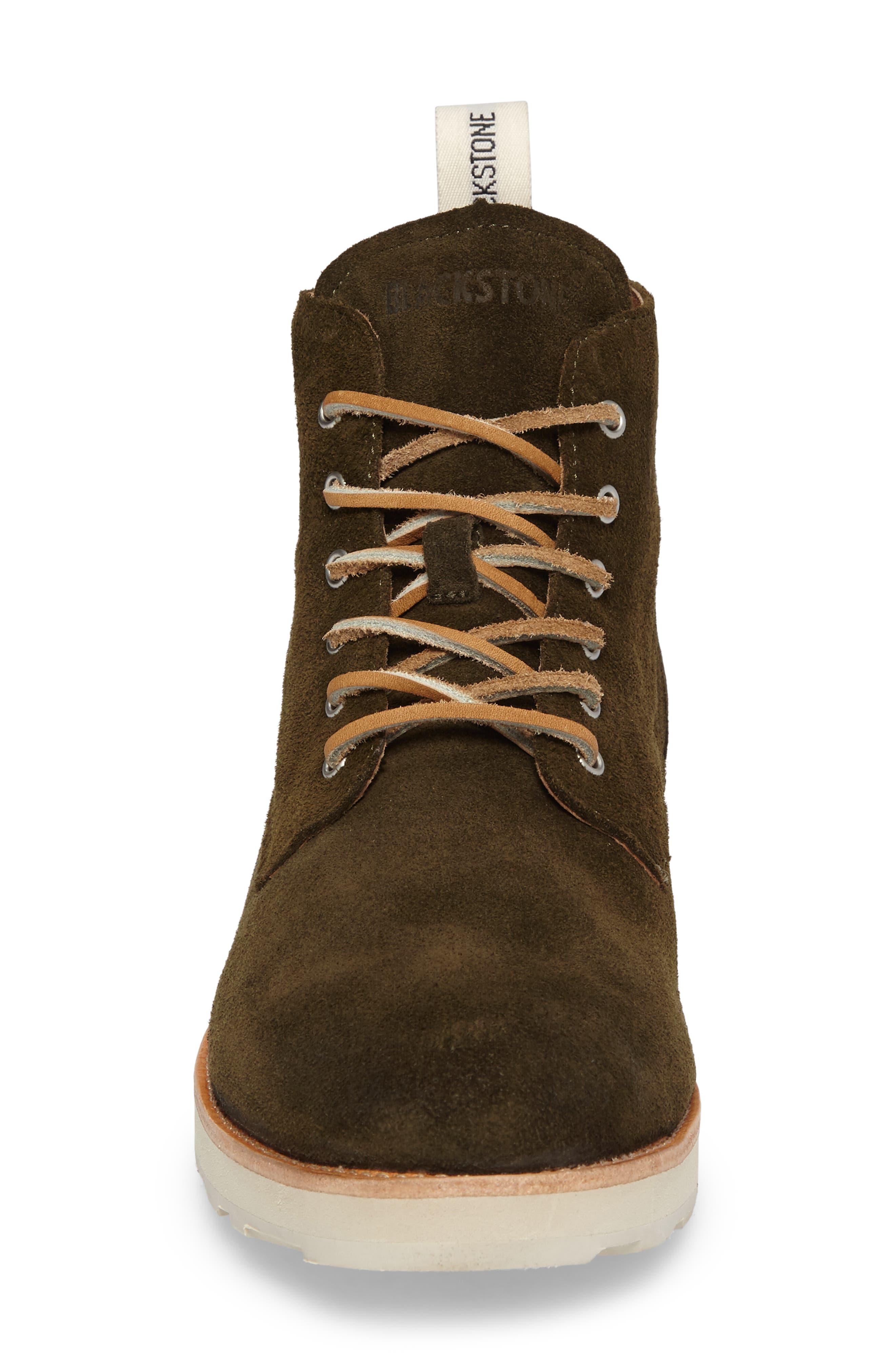 OM 53 Plain Toe Boot,                             Alternate thumbnail 4, color,                             DARK GREEN LEATHER
