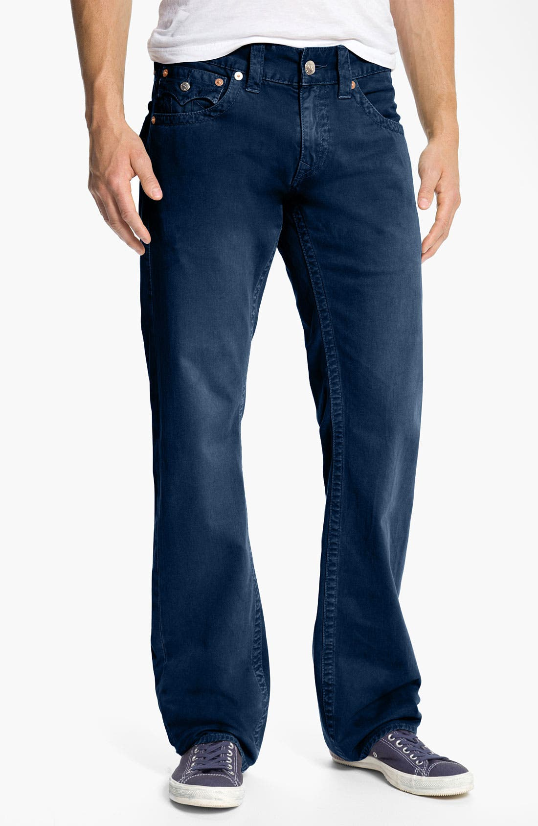 'Ricky' Straight Leg Cotton Twill Pants,                             Alternate thumbnail 11, color,