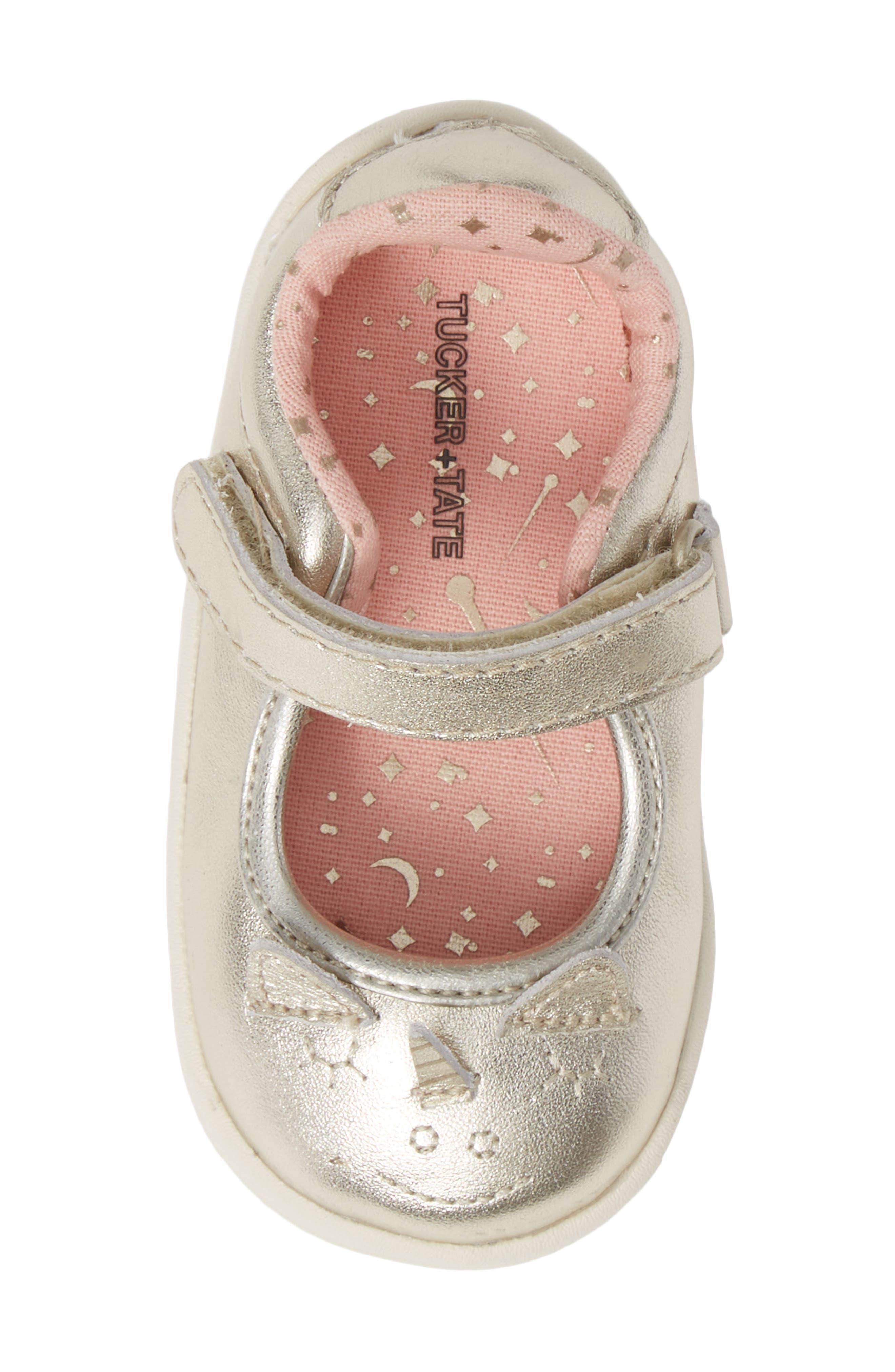 Clara Metallic Shoe,                             Alternate thumbnail 5, color,                             GOLD LEATHER