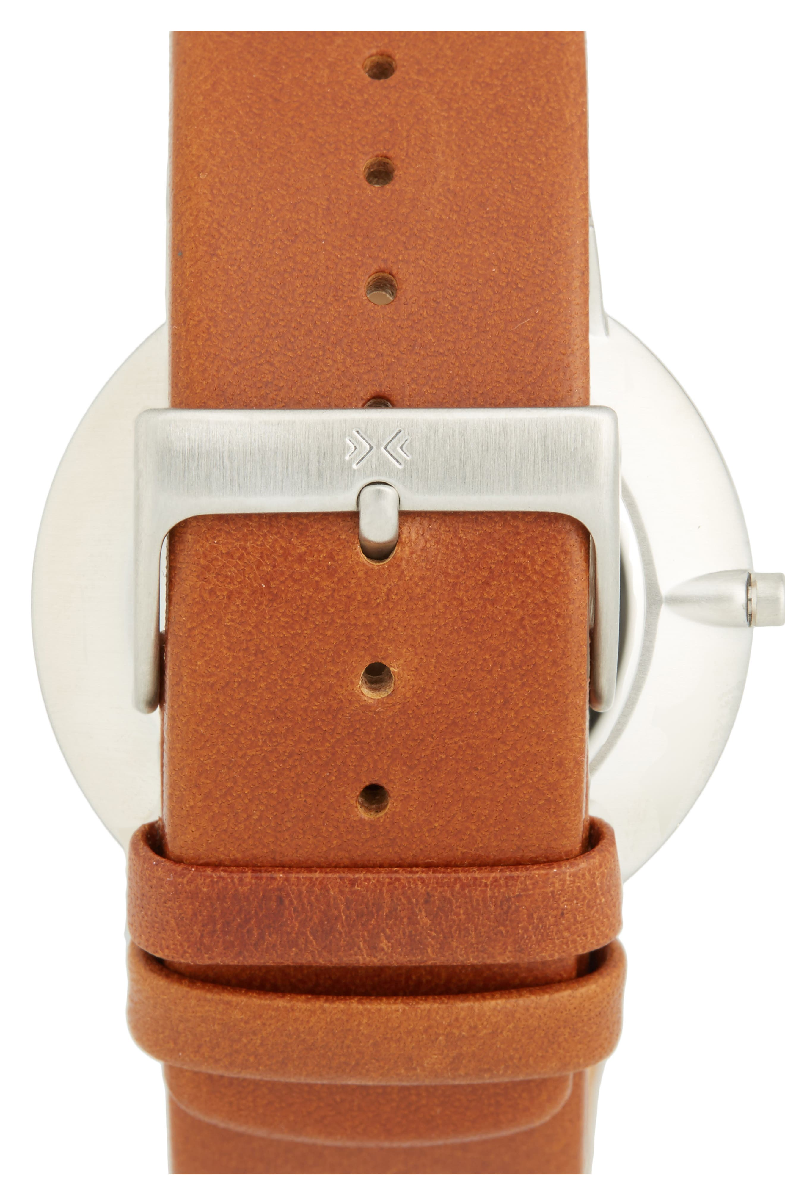 'Ancher' Round Leather Strap Watch, 40mm,                             Alternate thumbnail 6, color,