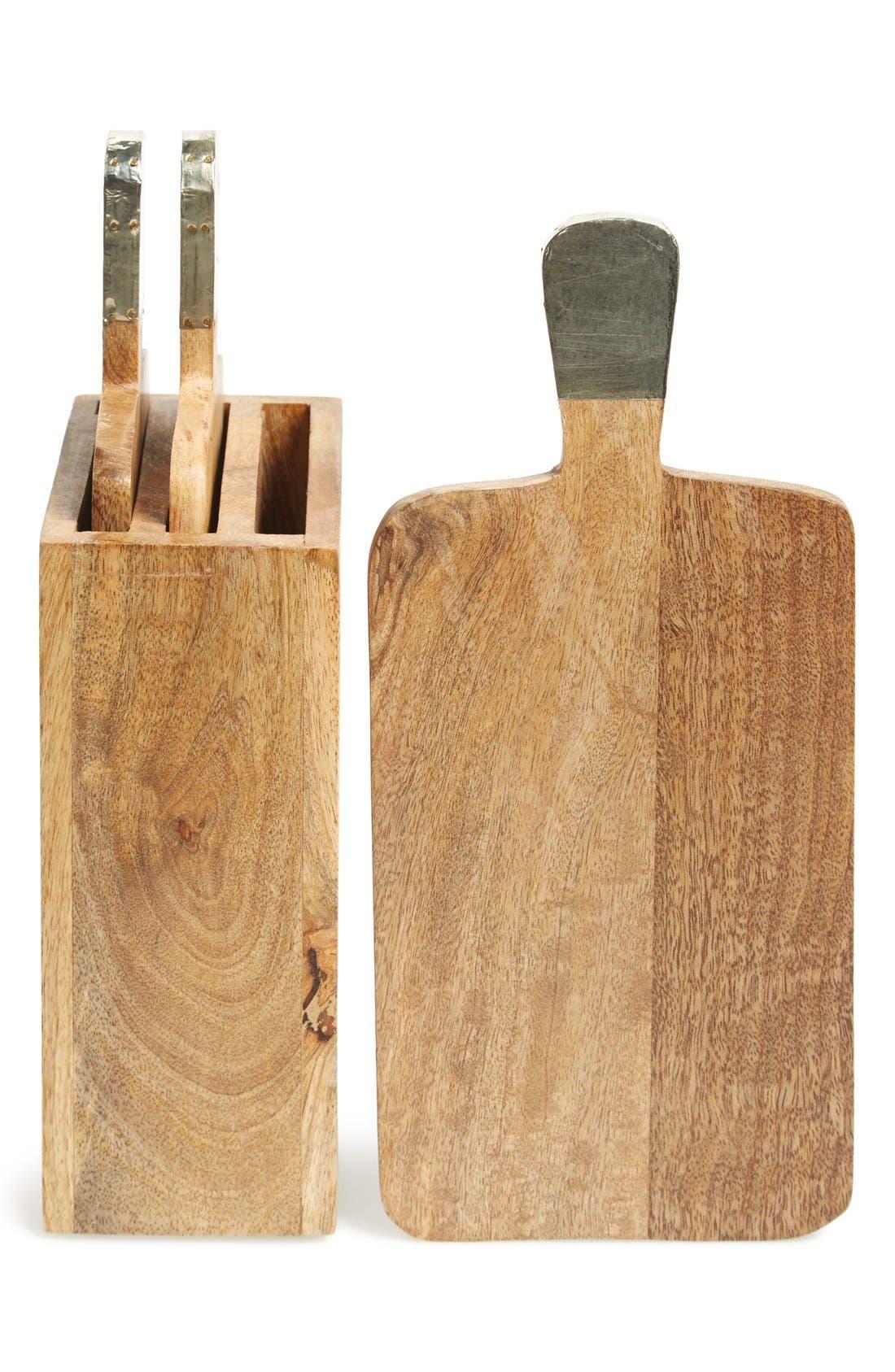 'Urban Farm' Mango Wood Serving Boards & Holder,                         Main,                         color, 200