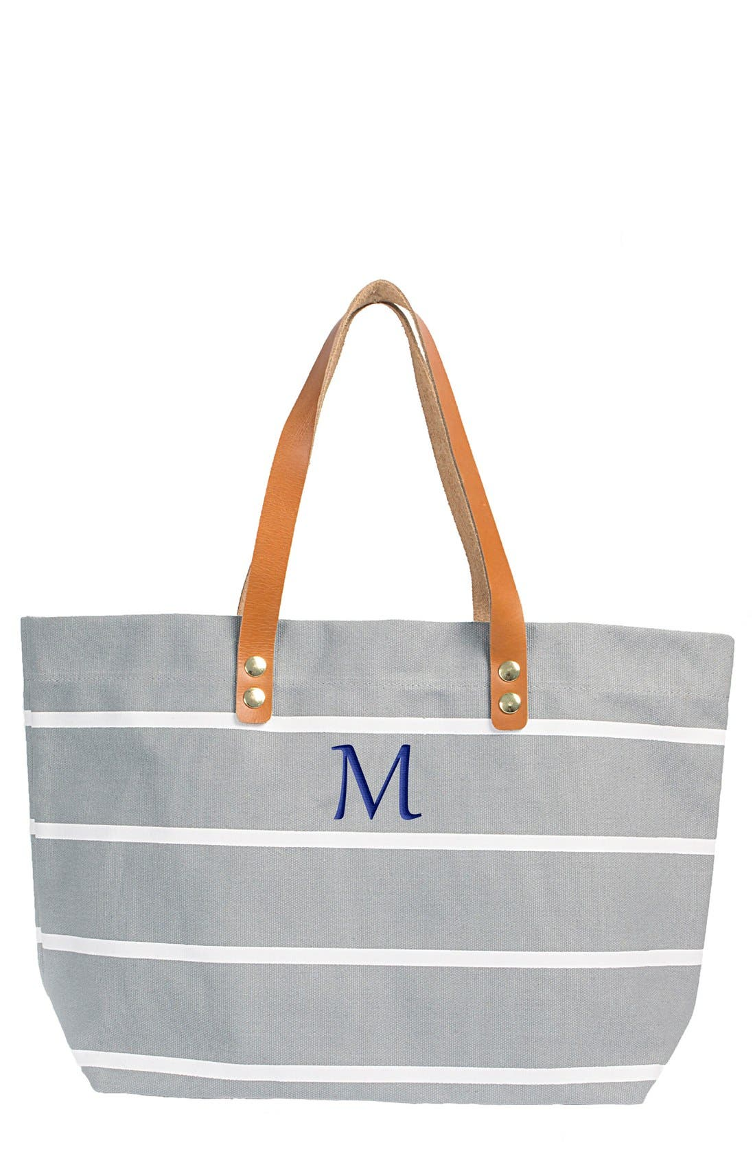 Monogram Stripe Tote,                             Main thumbnail 41, color,