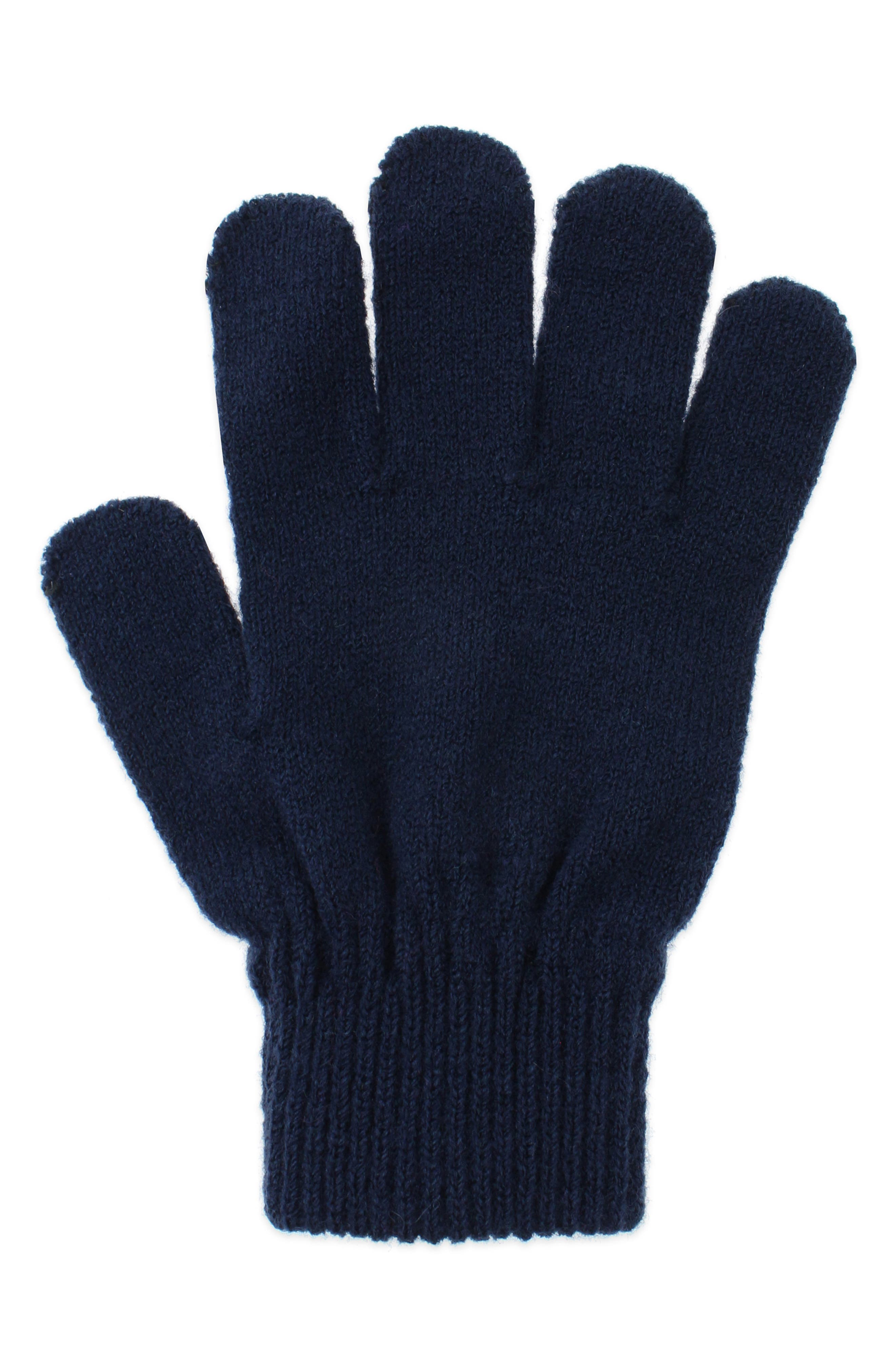Space Dyed Earflap Hat & Gloves Set,                             Alternate thumbnail 4, color,                             NAVY COMBO
