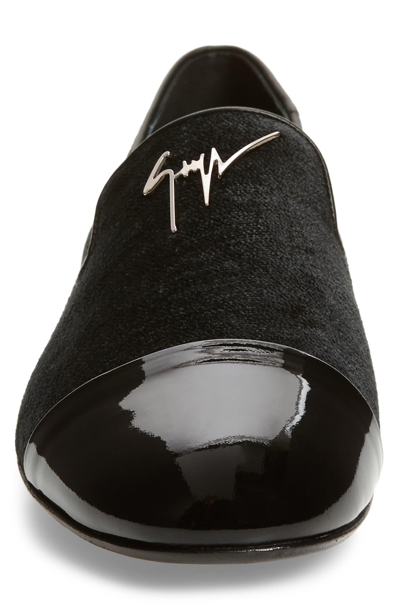 Tuxedo Loafer,                             Alternate thumbnail 4, color,                             BLACK