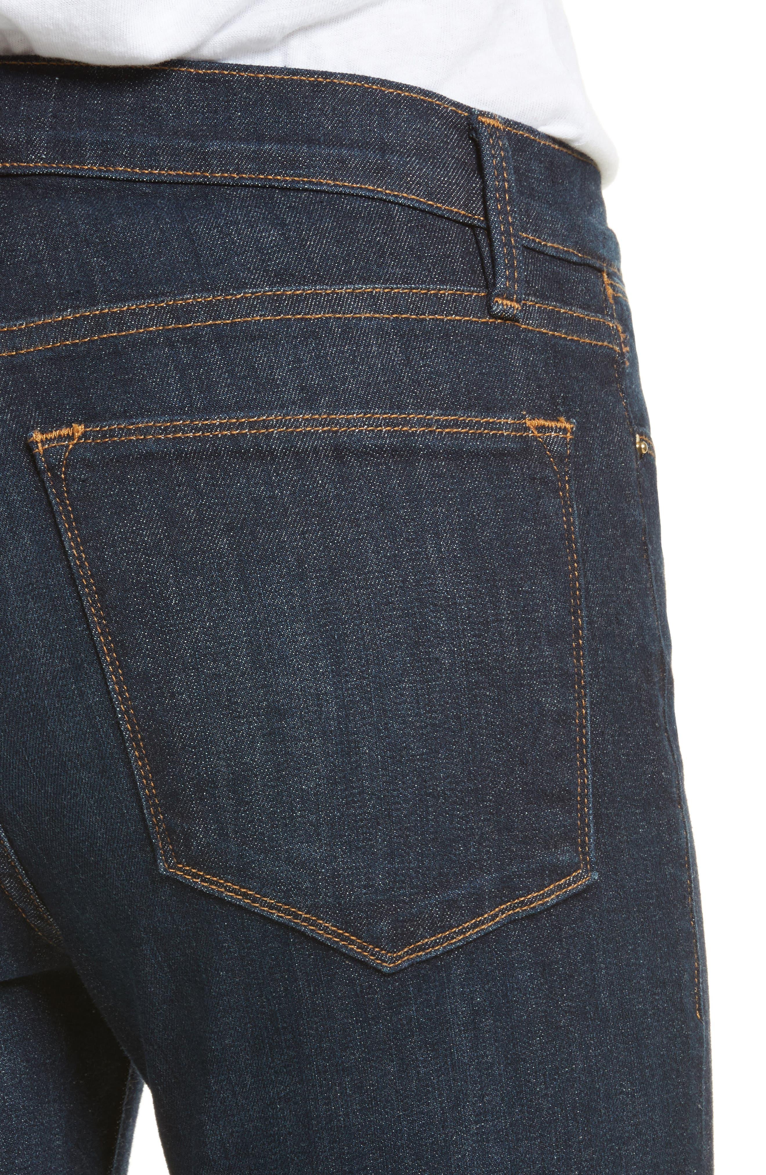 'Le High Flare' Jeans,                             Alternate thumbnail 4, color,                             401