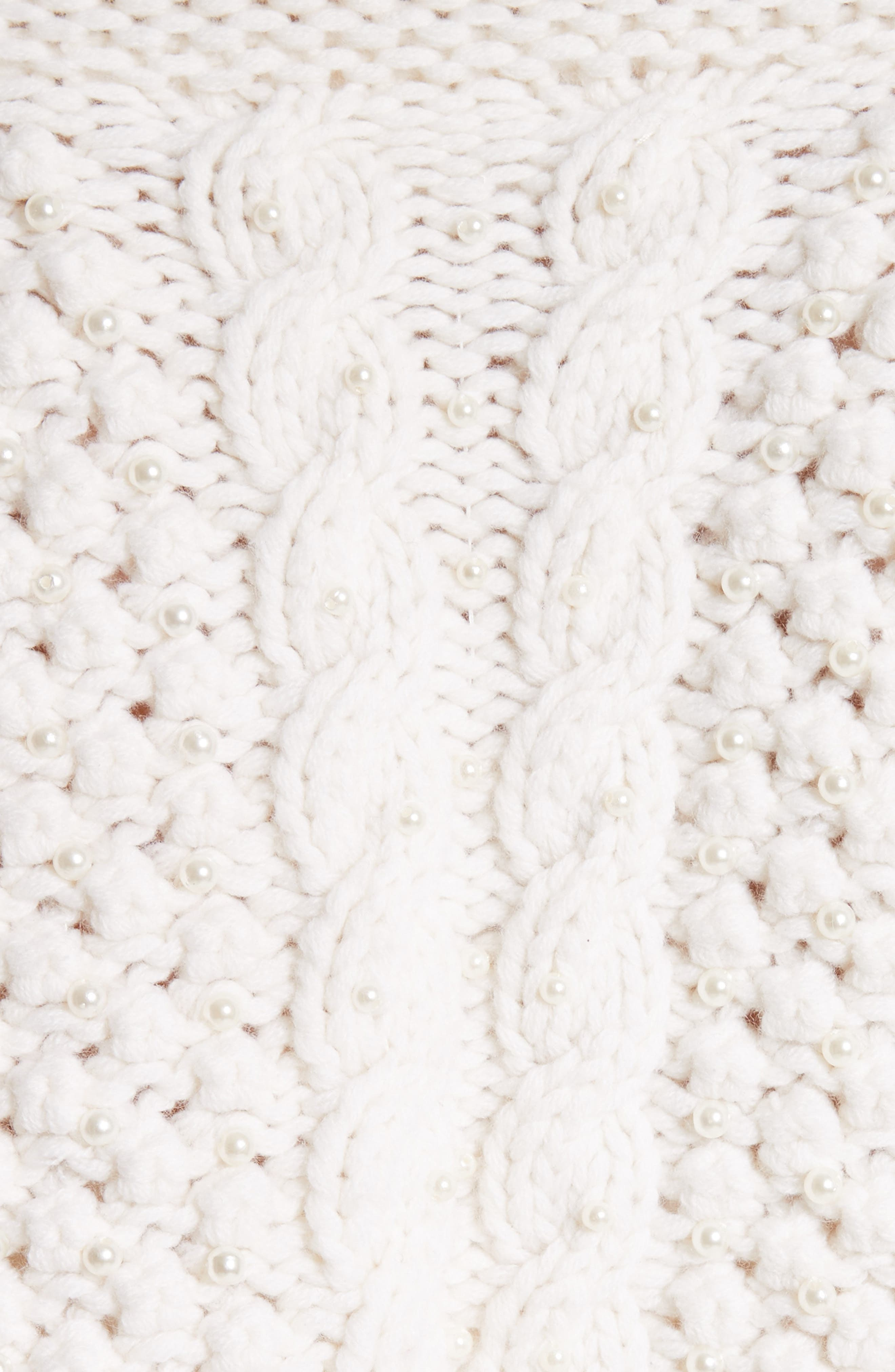 Cable Knit Wool & Cashmere Crop Sweater,                             Alternate thumbnail 5, color,                             900