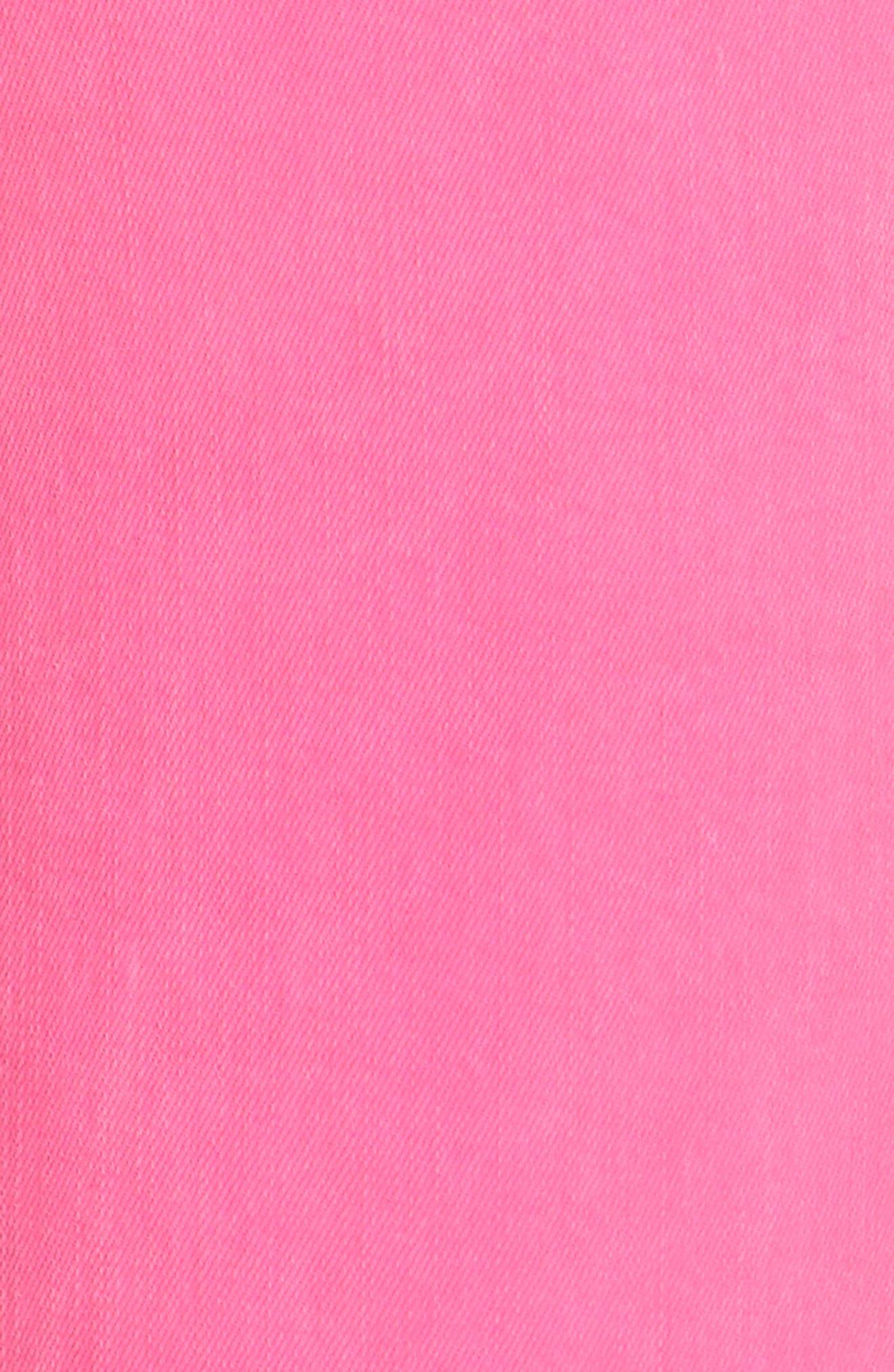 Margot Crop Skinny Jeans,                             Alternate thumbnail 5, color,                             FLAMINGO