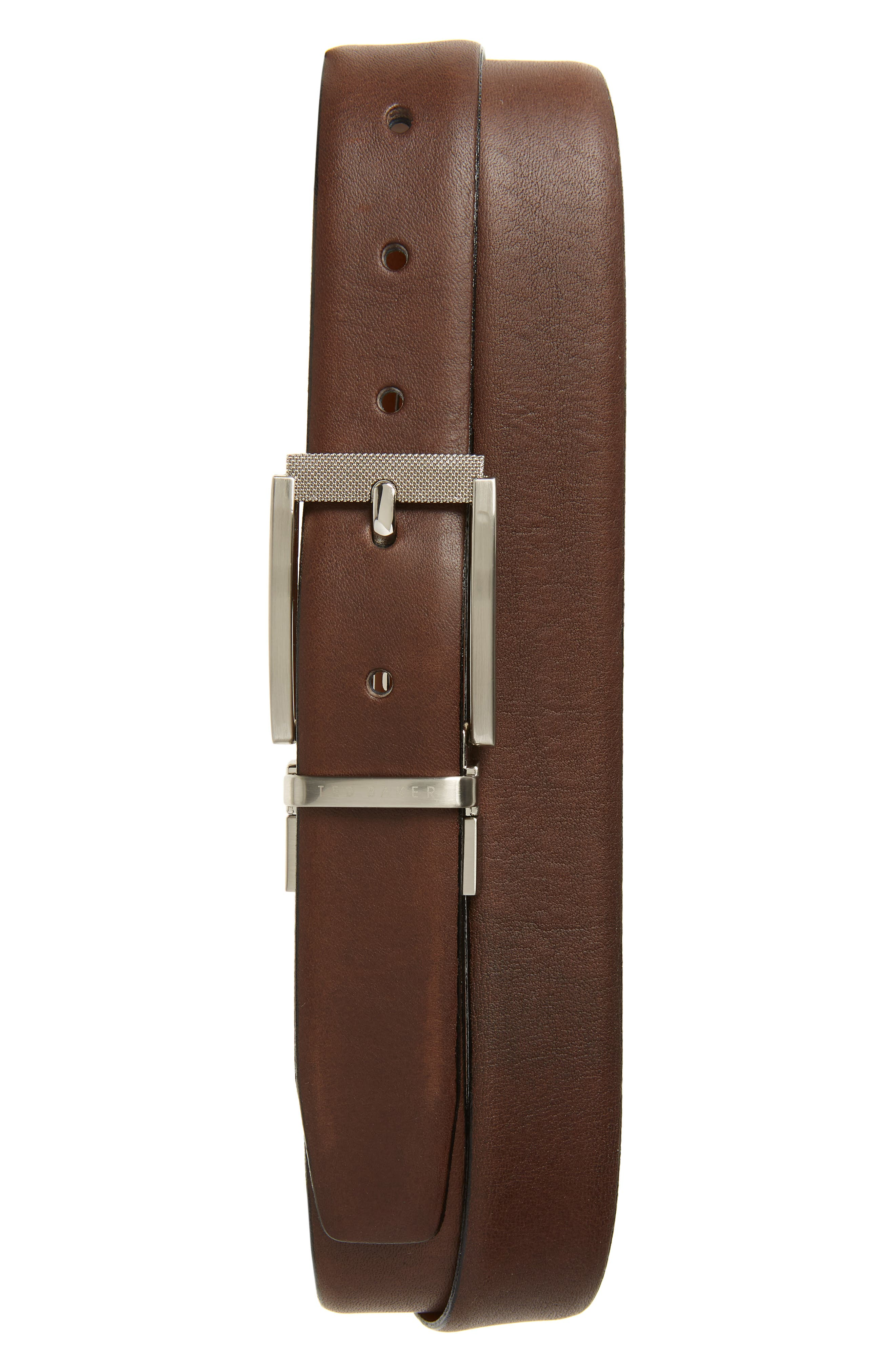 Ted Baker London Reva Reversible Leather Belt, Tan/ Chocolate