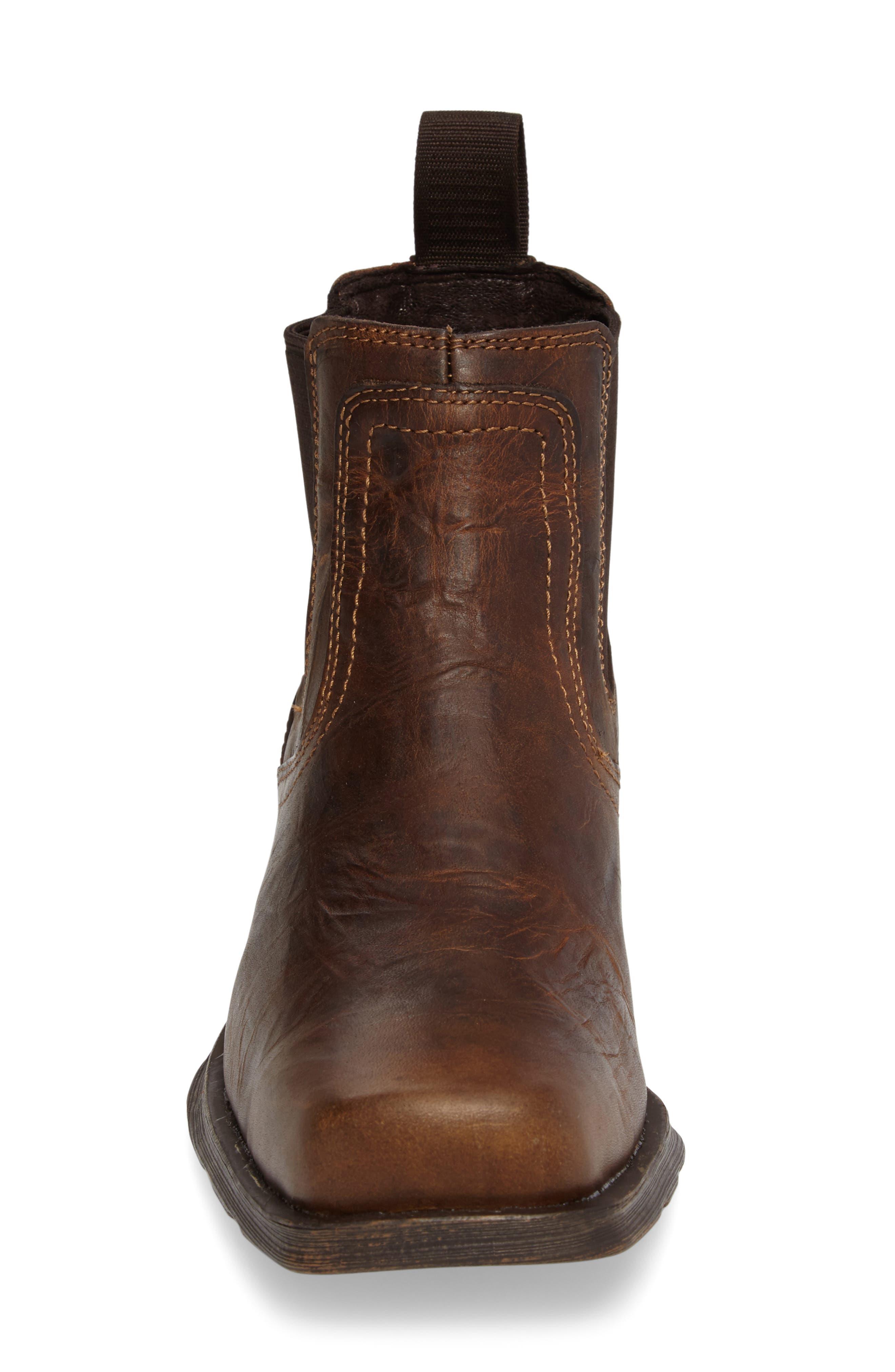 Midtown Rambler Mid Chelsea Boot,                             Alternate thumbnail 4, color,                             BARN BROWN