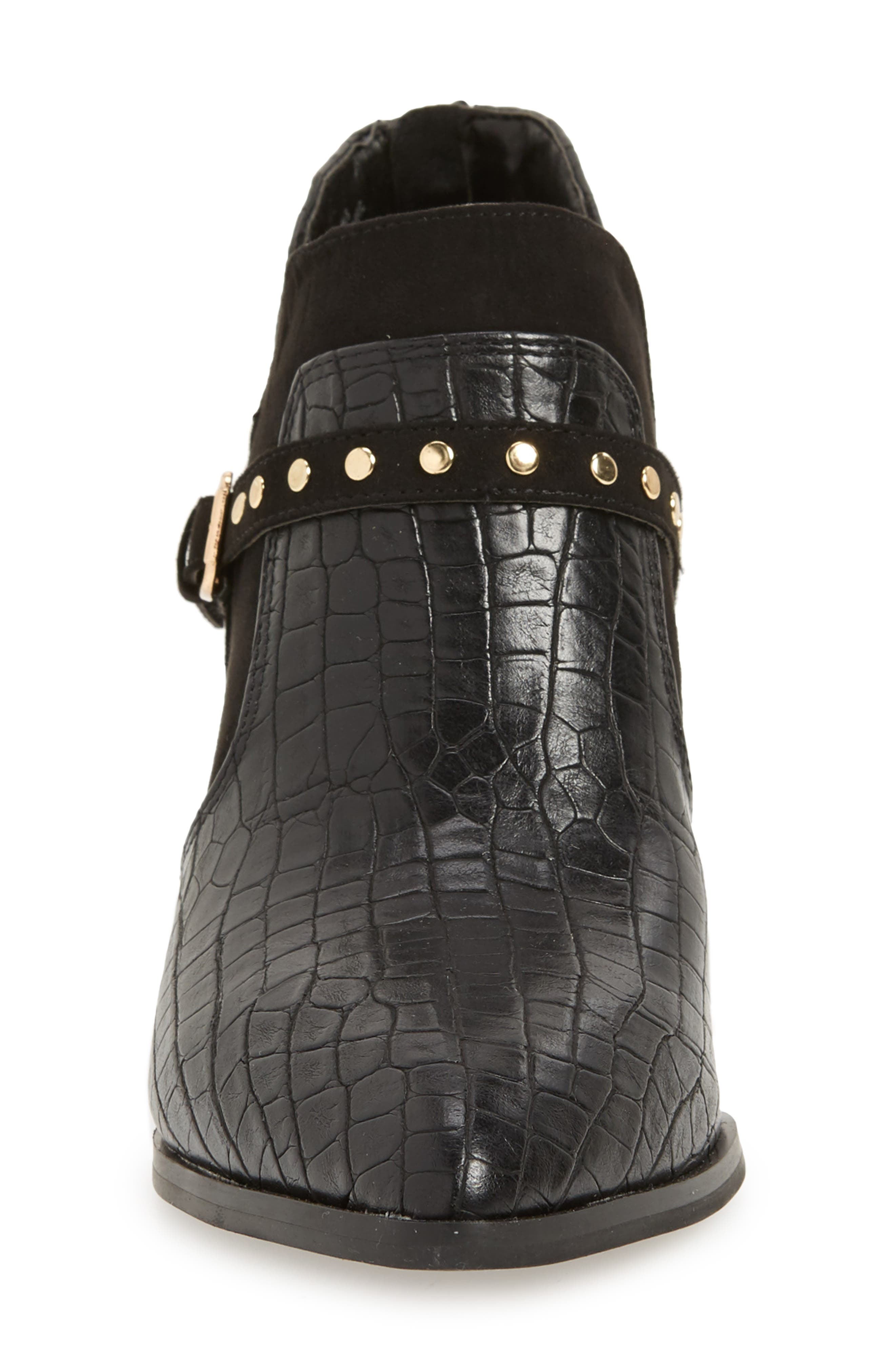 Elody II Pointy Toe Bootie,                             Alternate thumbnail 4, color,                             BLACK