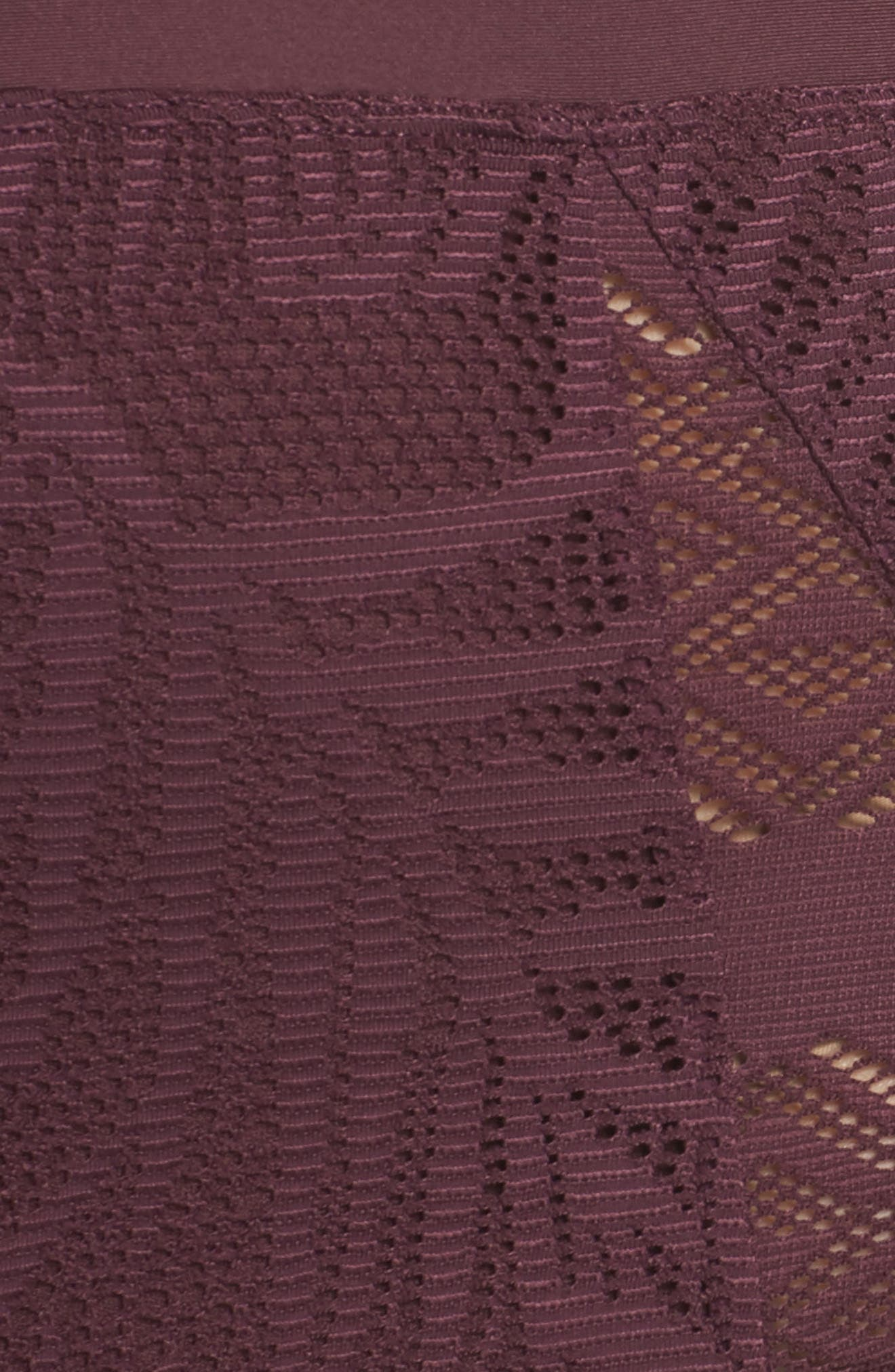 Crochet Inset High Waist Bikini Bottoms,                             Alternate thumbnail 5, color,                             930