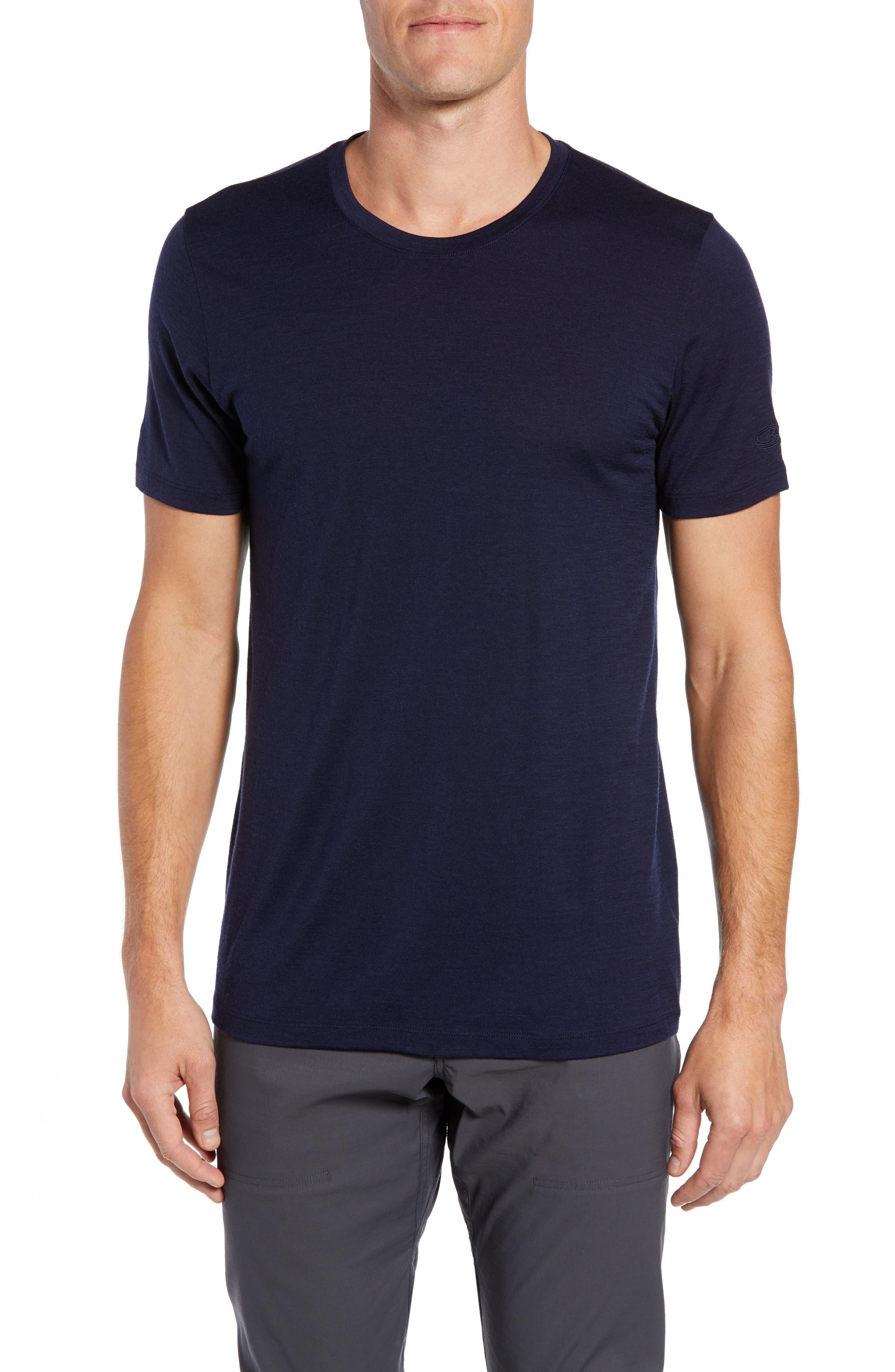 Icebreaker Tech Lite Short Sleeve Crewneck T-Shirt, Blue
