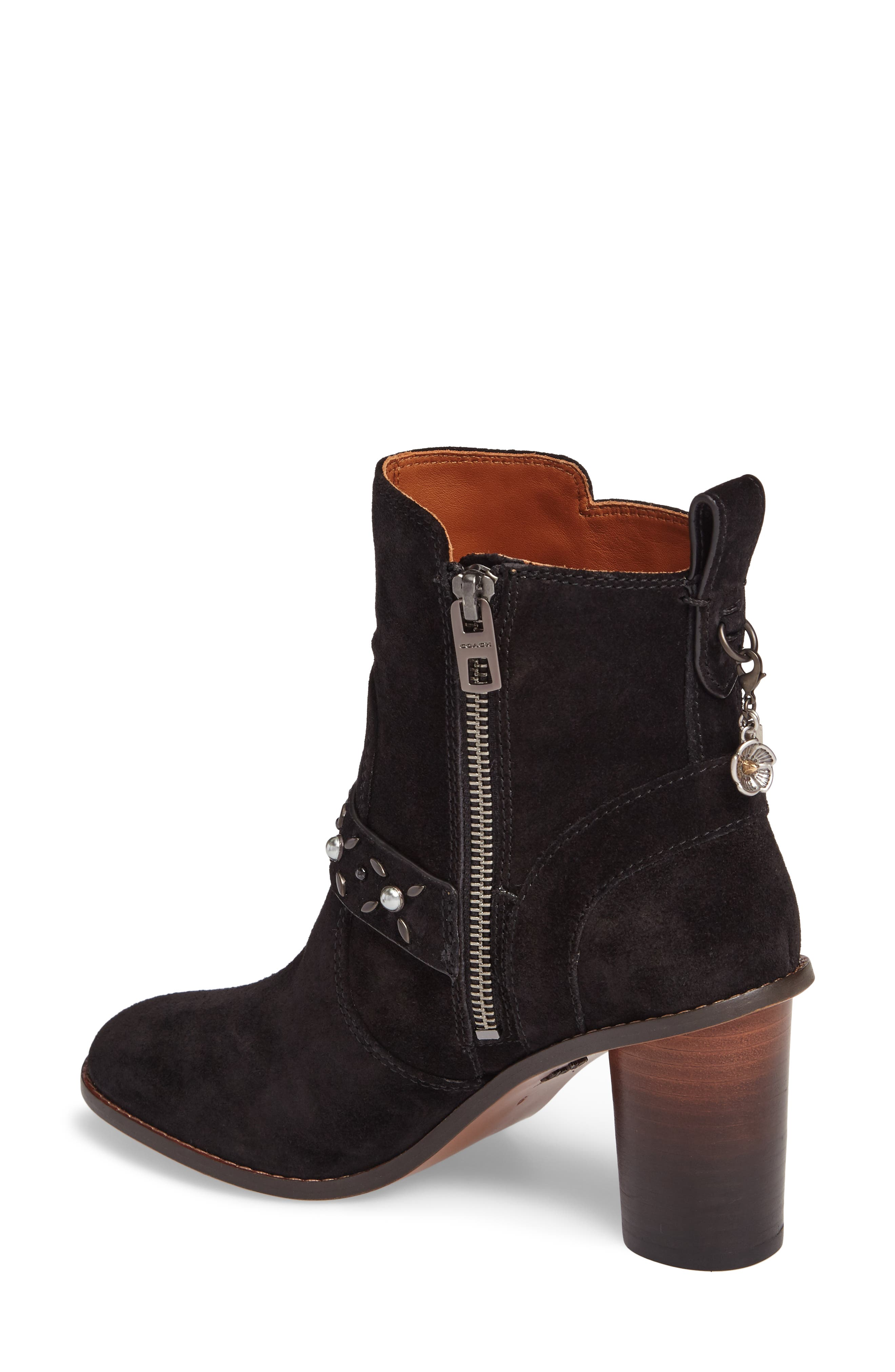 Studded Western Boot,                             Alternate thumbnail 2, color,                             001