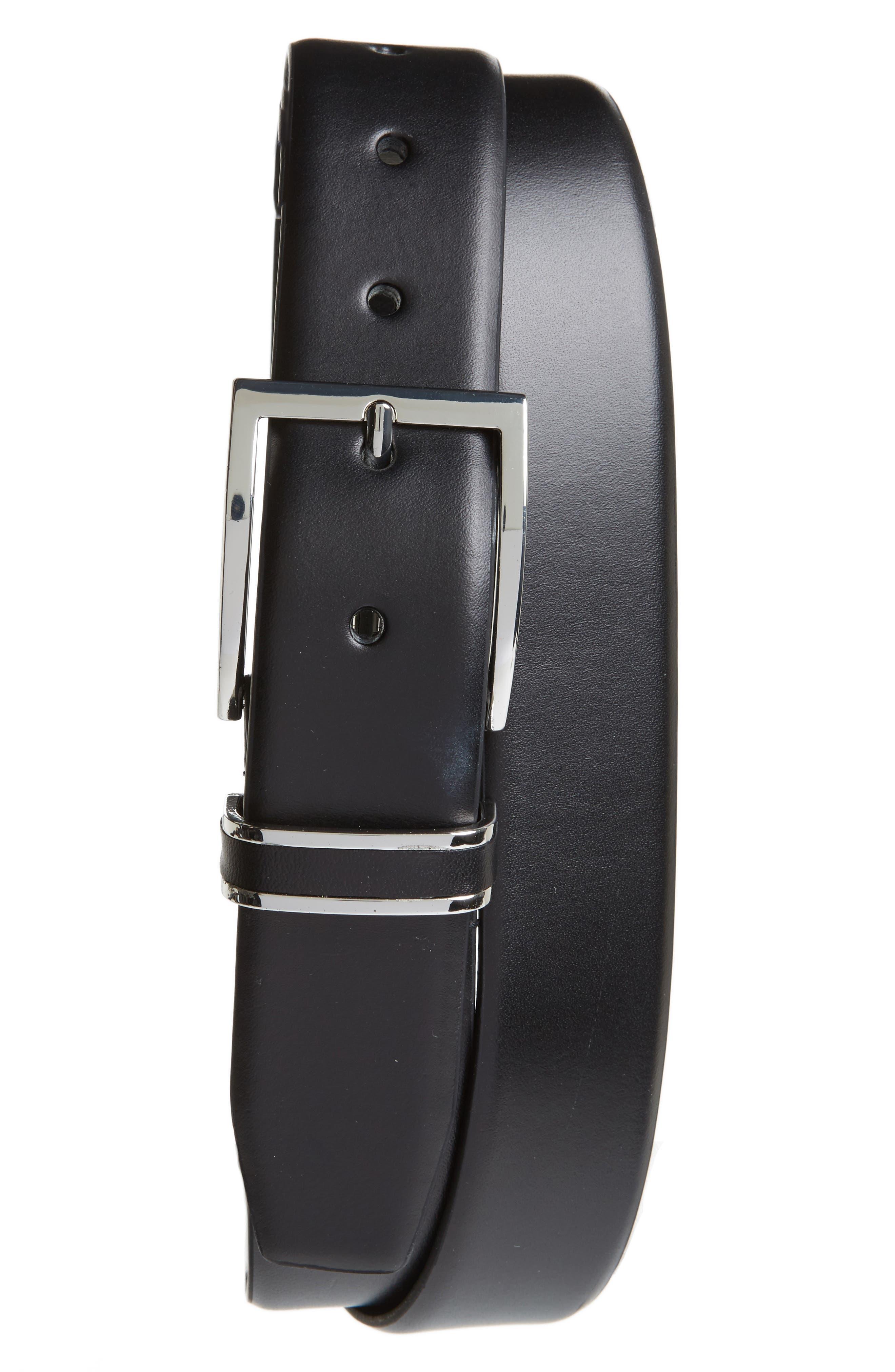 Lynden Leather Belt,                         Main,                         color, 001