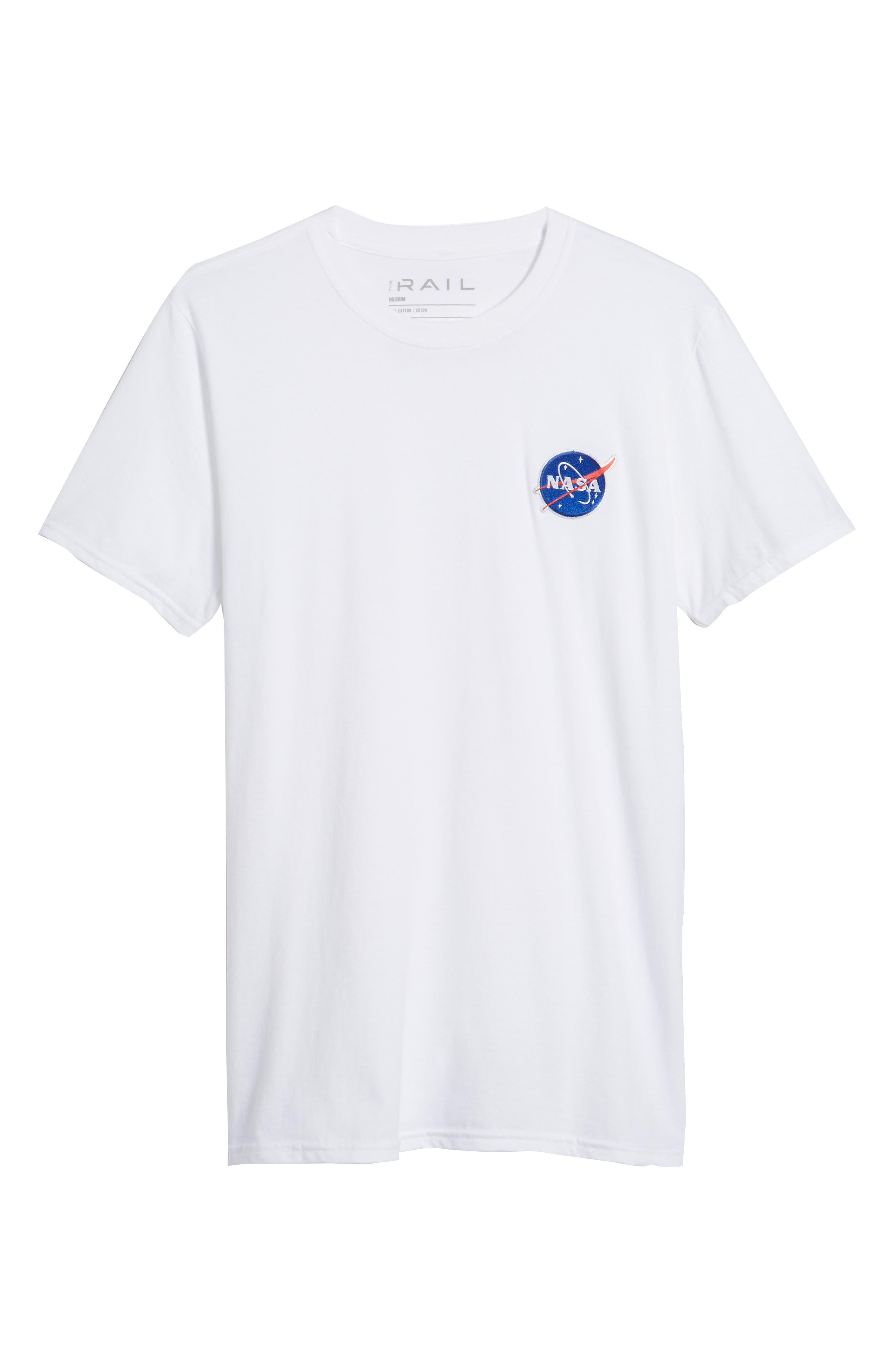 NASA Logo T-Shirt,                             Alternate thumbnail 6, color,                             100