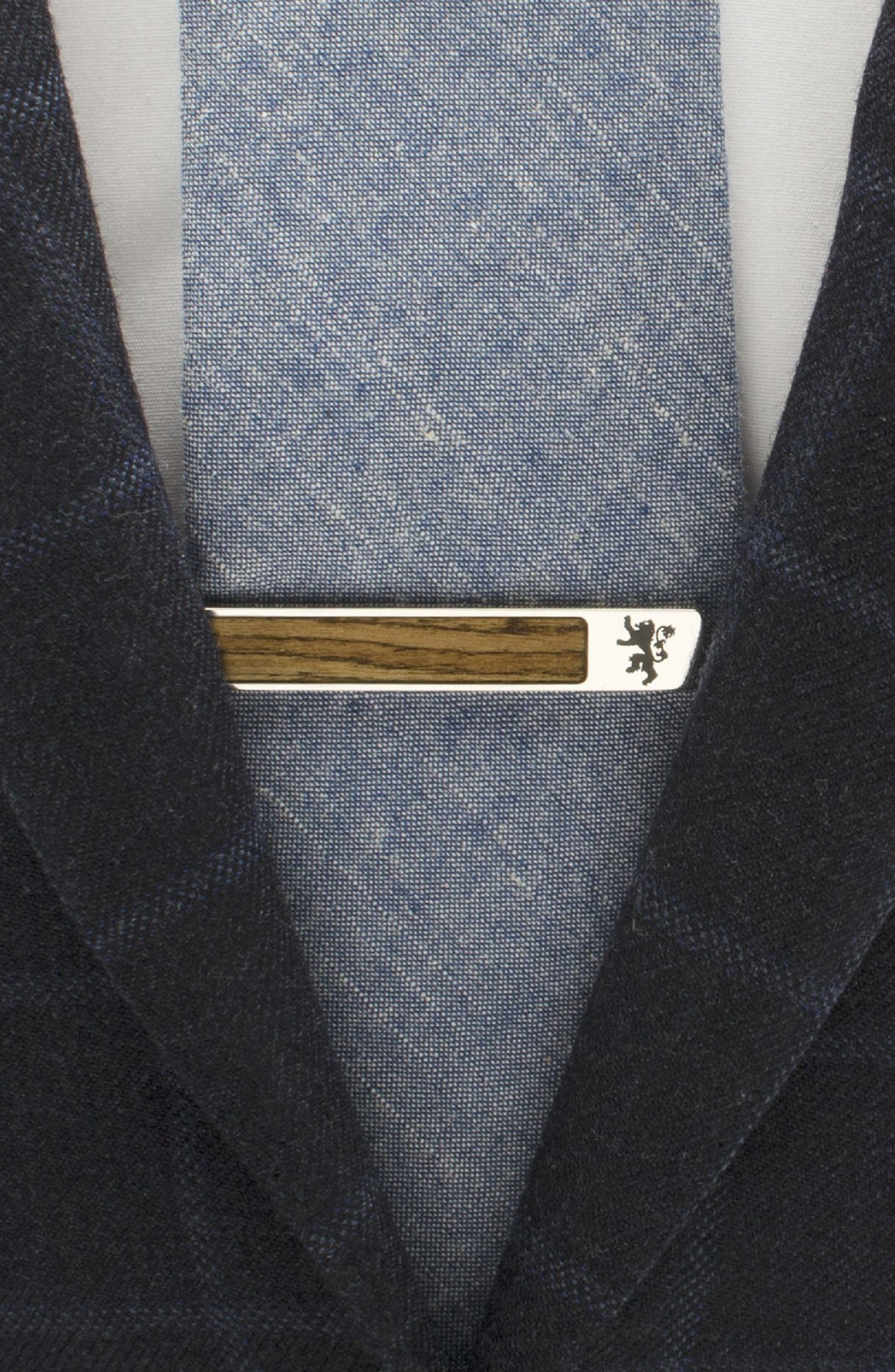 Lannister Tie Clip,                             Alternate thumbnail 3, color,                             SILVER/ WOOD