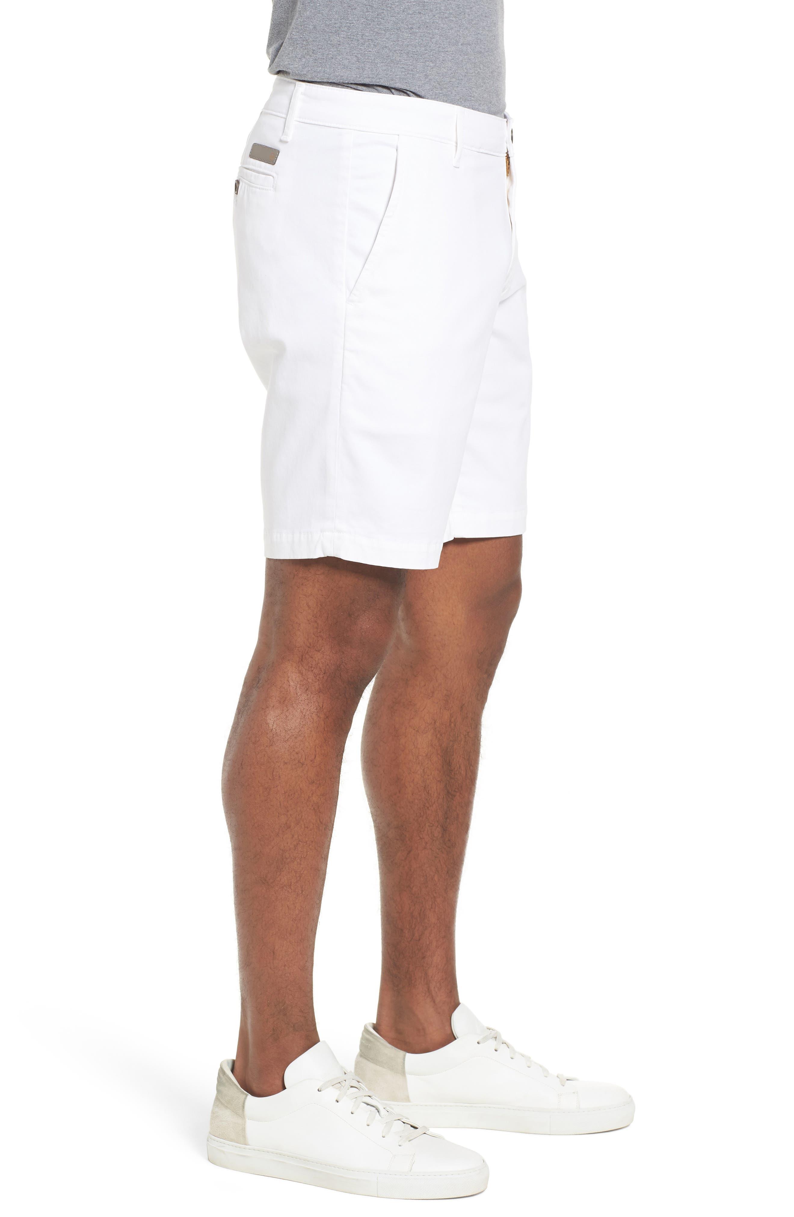 Wanderer Modern Slim Fit Shorts,                             Alternate thumbnail 3, color,                             WHITE