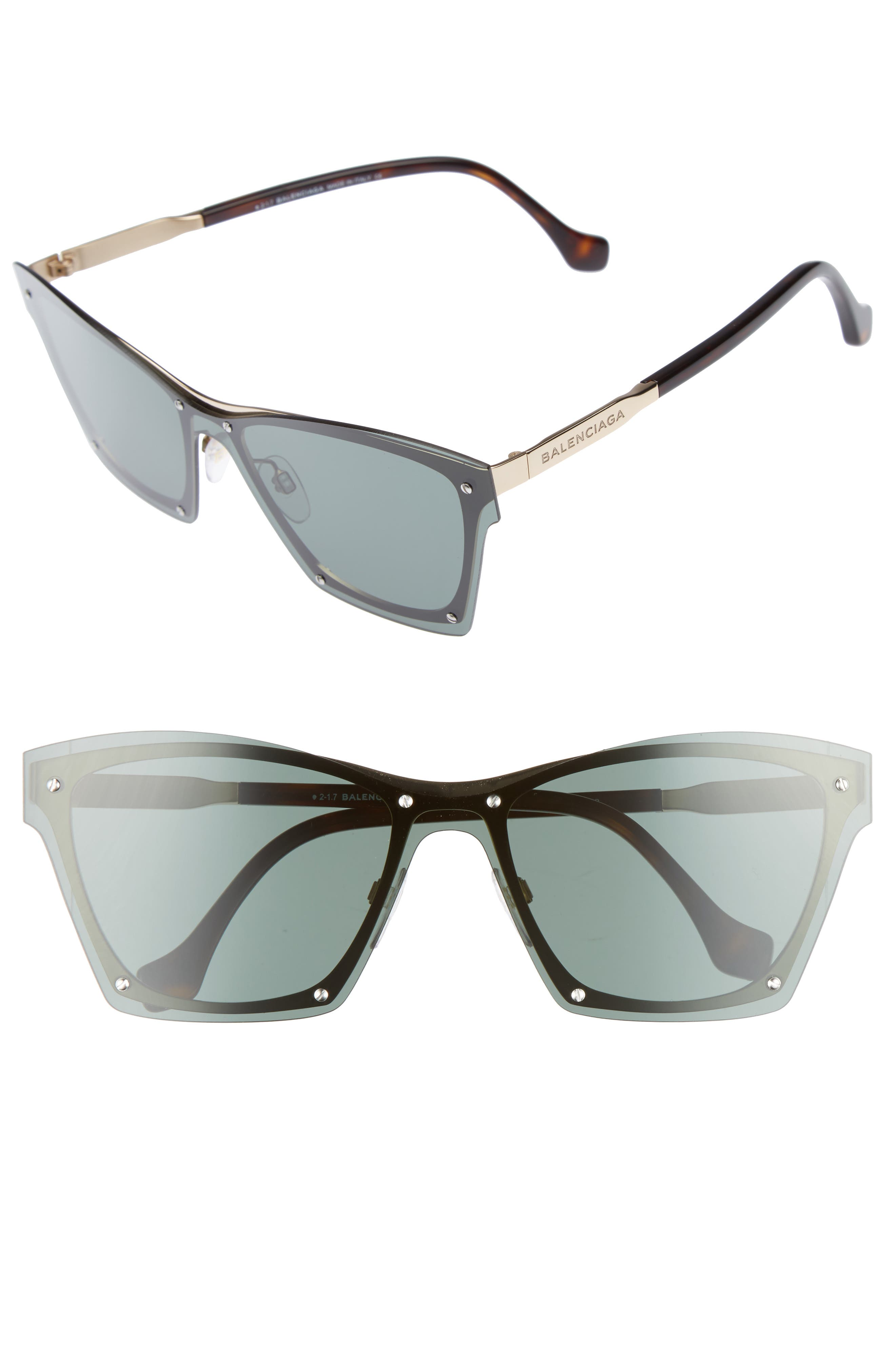 55mm Frameless Sunglasses,                             Main thumbnail 3, color,