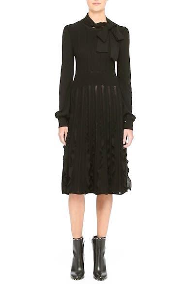 Ruffle Skirt Wool Knit Dress, video thumbnail