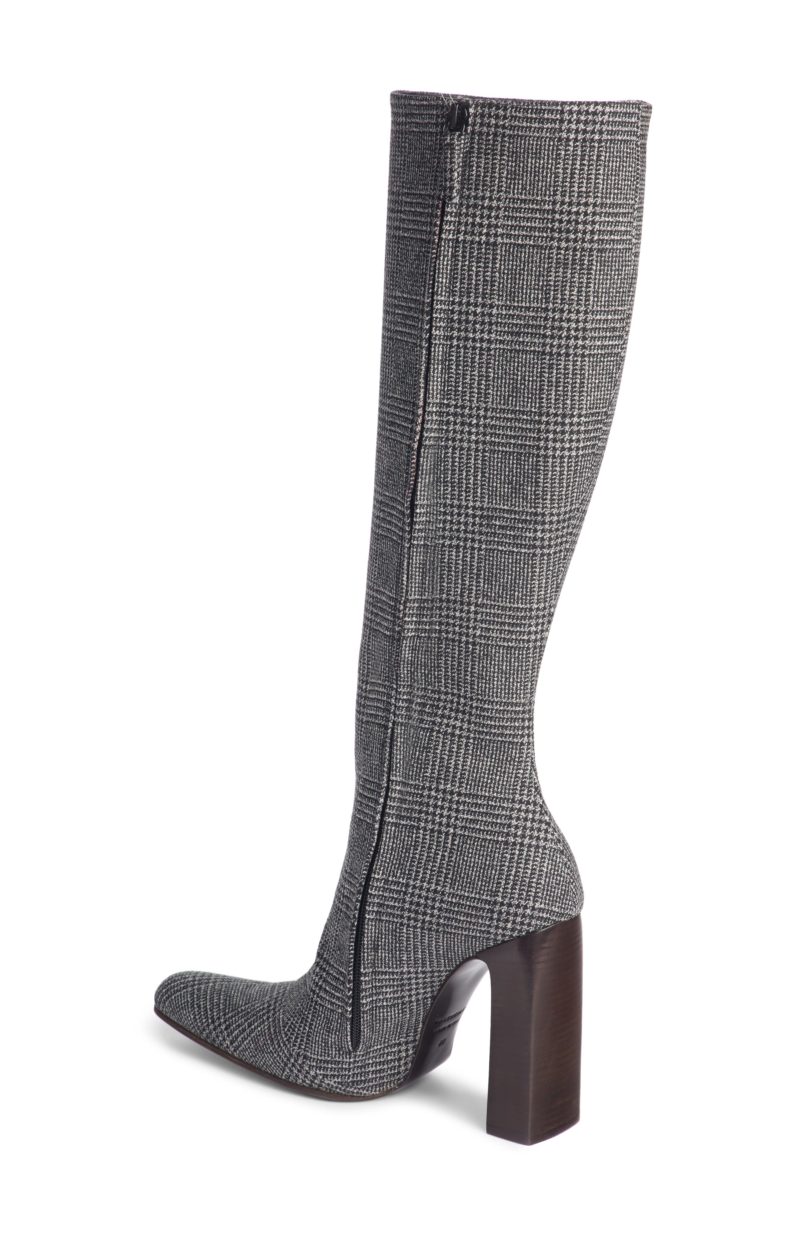 Prince of Wales Knee High Boot,                             Alternate thumbnail 2, color,                             GREY