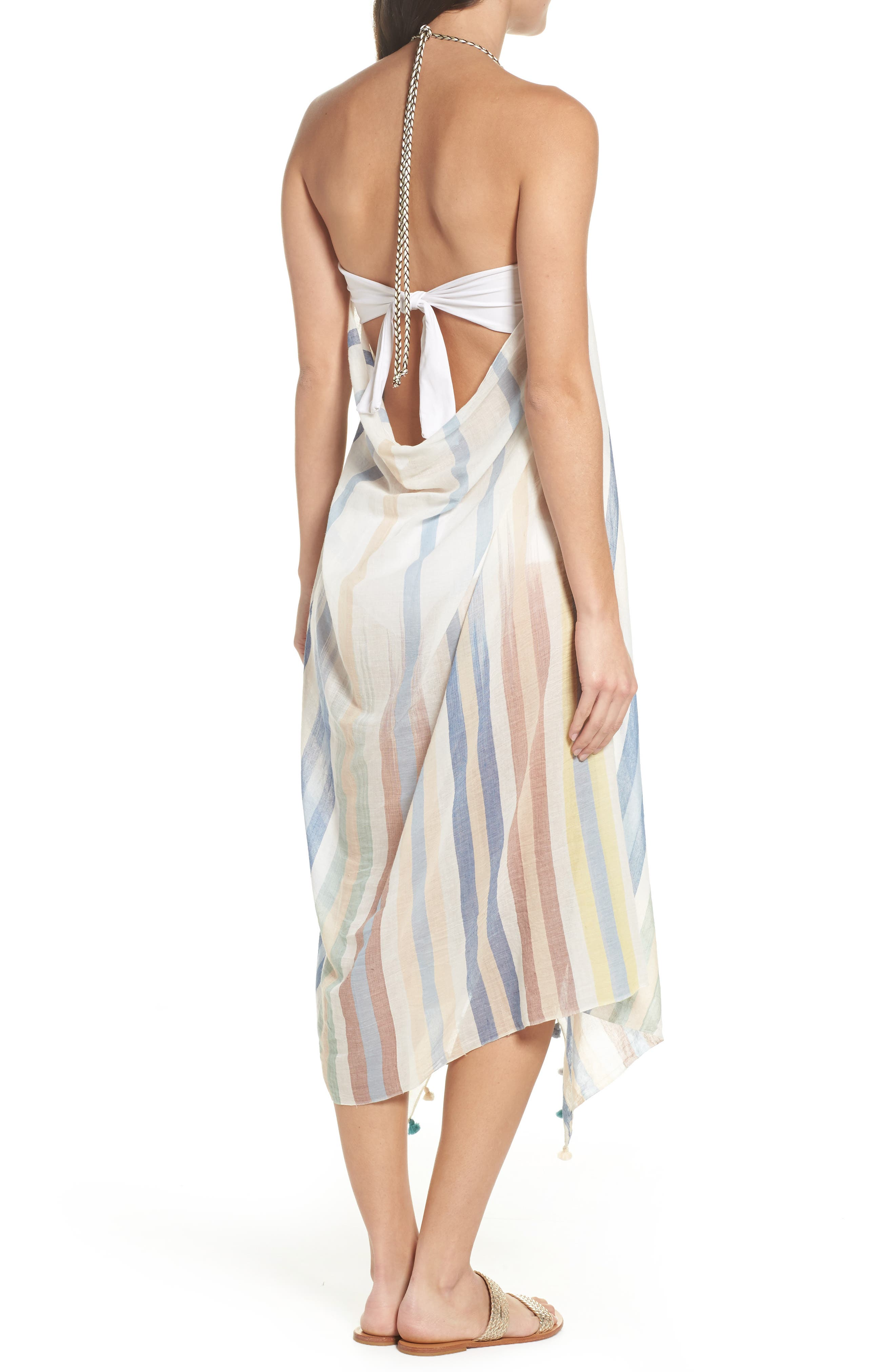 Pool Party Beach to Street Cover-Up Dress,                             Alternate thumbnail 4, color,