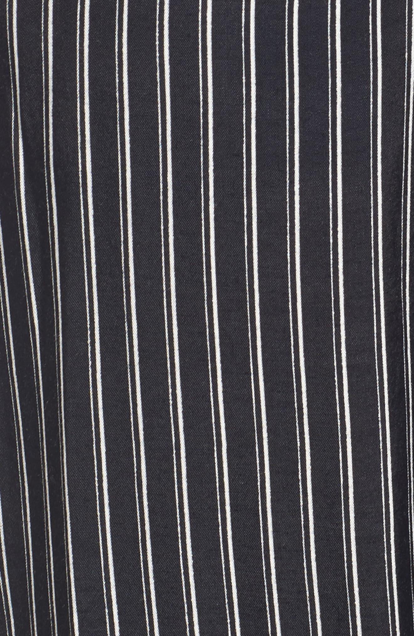 Cedric Plunging Pinstripe Jumpsuit,                             Alternate thumbnail 5, color,                             001